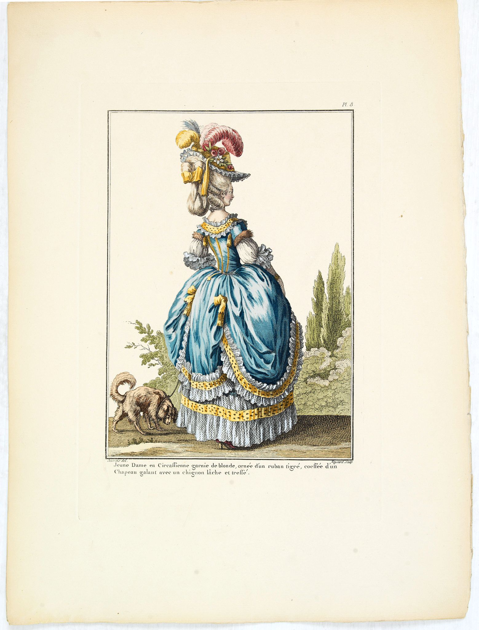LEVY, E. / LECLERC P.T. -  Pl. 8. - Robe à la Circassienne.