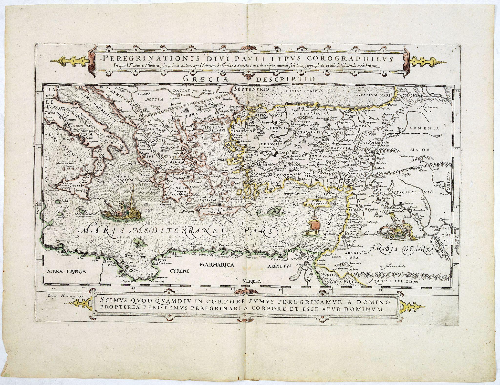HONERVOGT, J. -  Peregrinations divi Pauli Tyrus Corographicus. . .