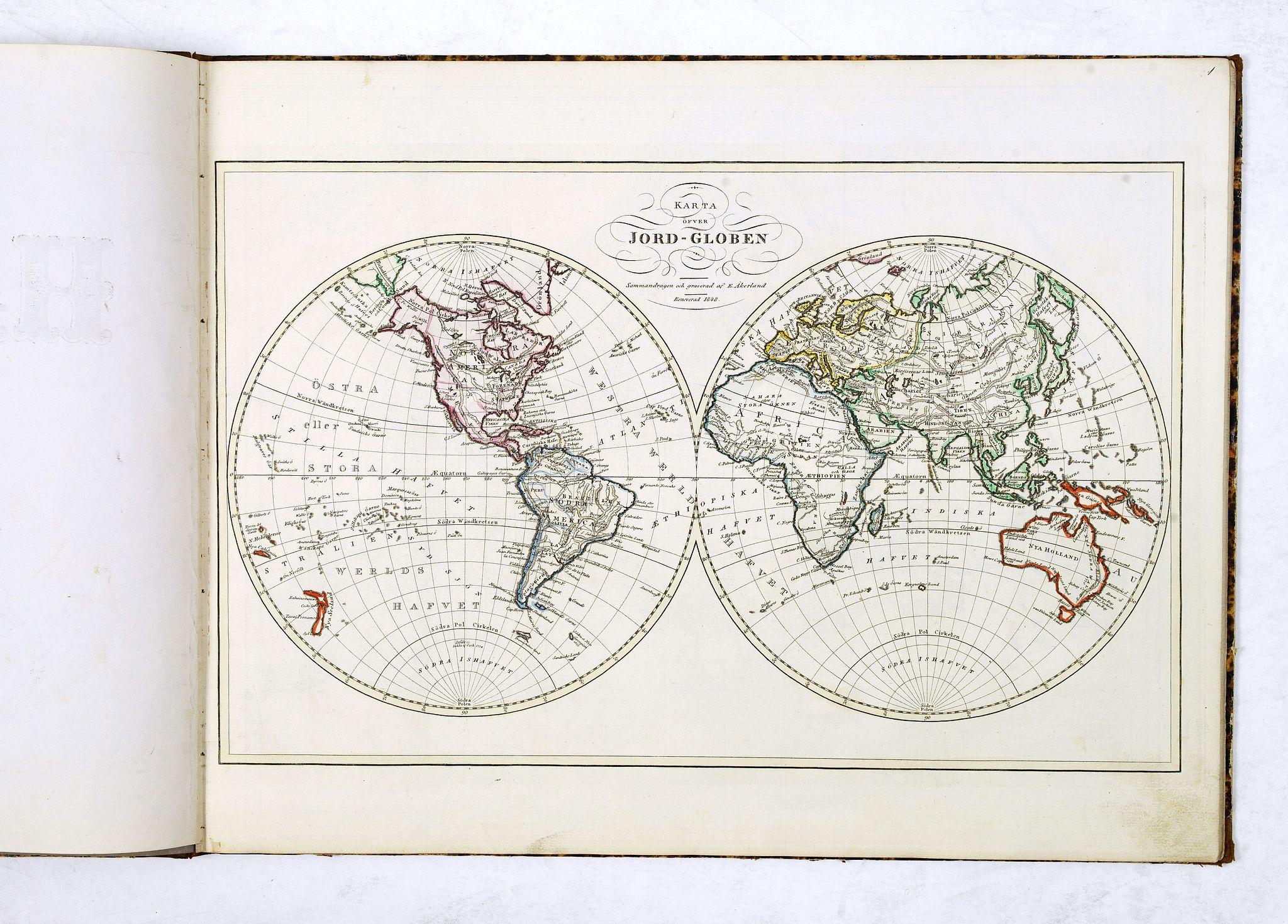 ÅKERLAND, E -  Geographisk Hand-Atlas.