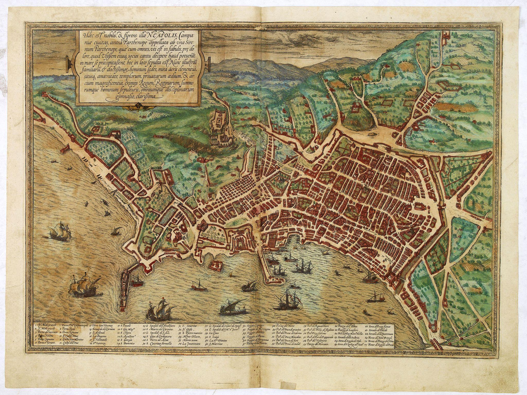 BRAUN,G. / HOGENBERG, F. -  Haec est Nobilis, & Florens Illa Neapolis  . . .