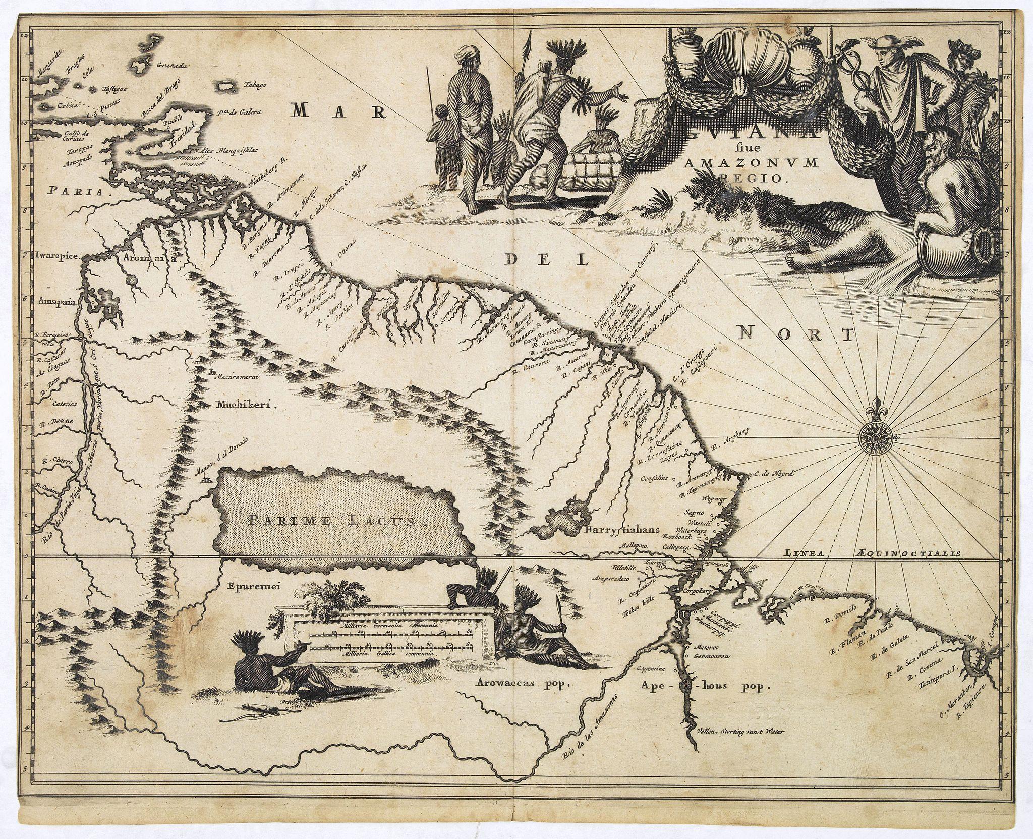MONTANUS, A. -  Guiana sive Amazonum Regio.