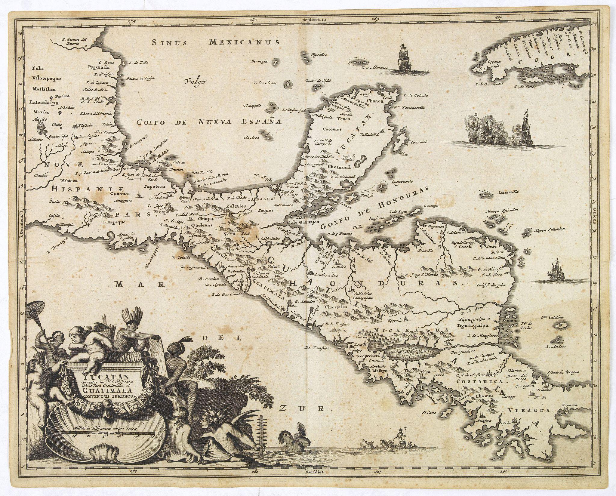 MONTANUS, A. -  Yucatan . . . Et Guatimala Conventus Iuridicus.