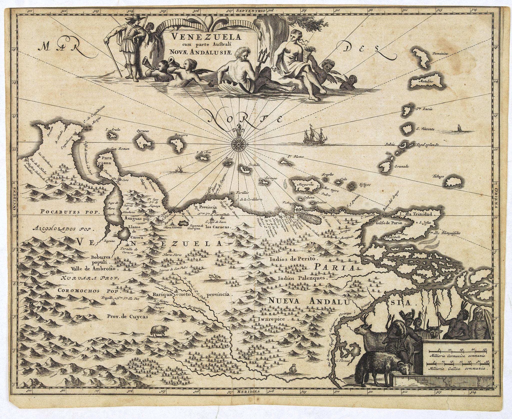 MONTANUS, A. -  Venezuela cum parte Australi Novae Andalusiae.