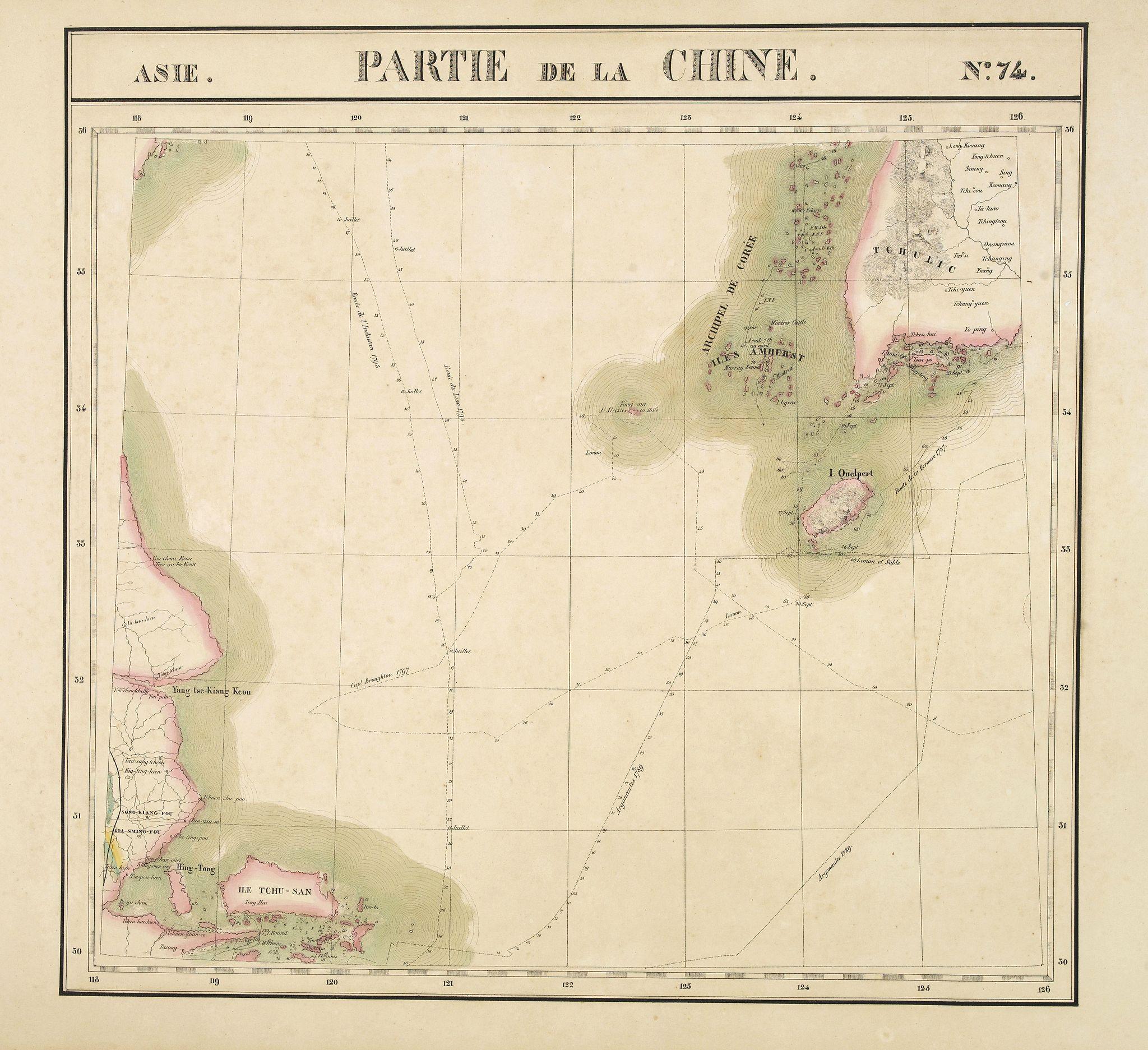 VANDERMAELEN, Ph. -  Partie de la Chine. N°.74 (Including South Korea)