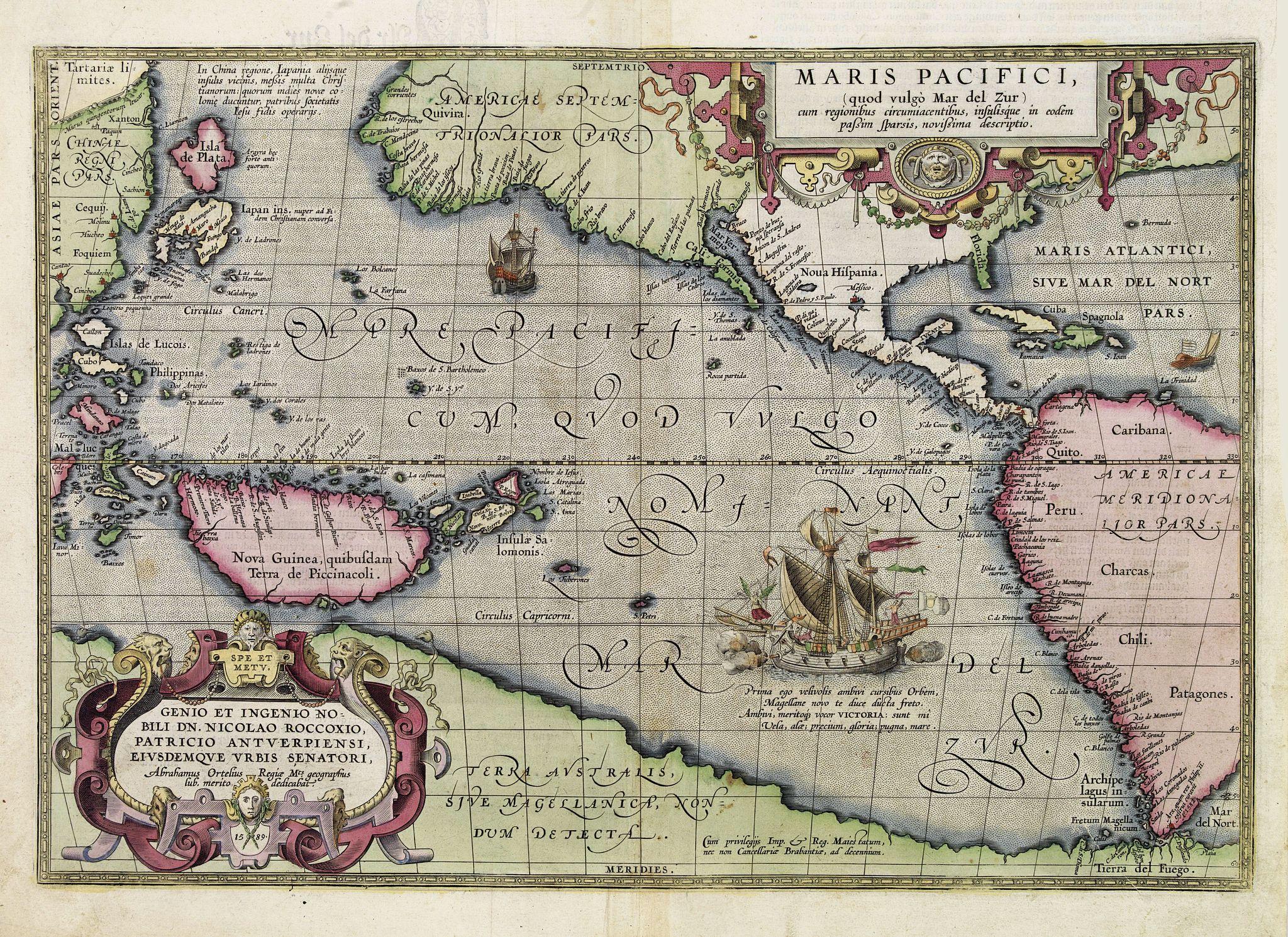 ORTELIUS, A. -  Maris Pacifici.