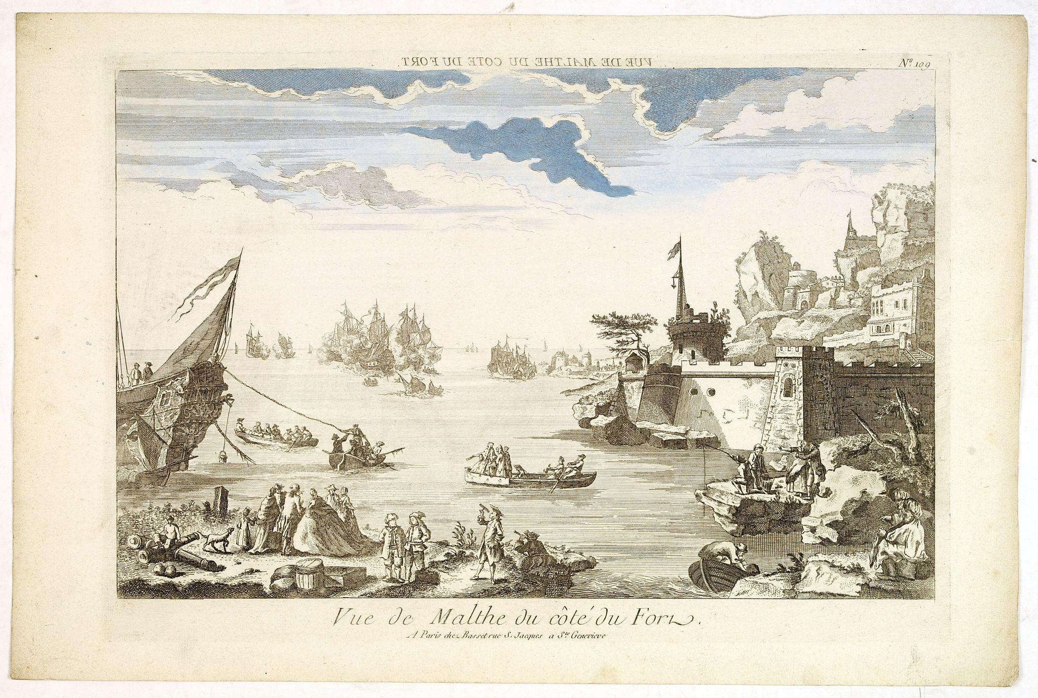 BASSET. -  Vue de Malthe du cote du Fort.