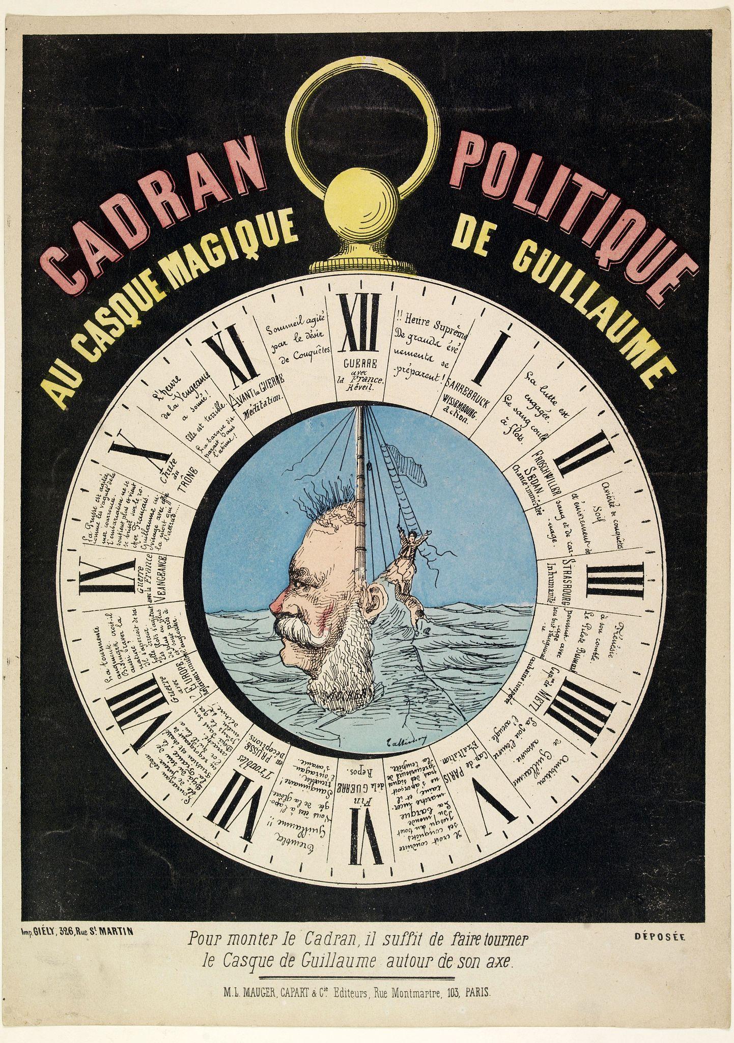 MAUGER, M.L. / CAPART & Cie. -  Cadran Politique au casque magique de guillaume.