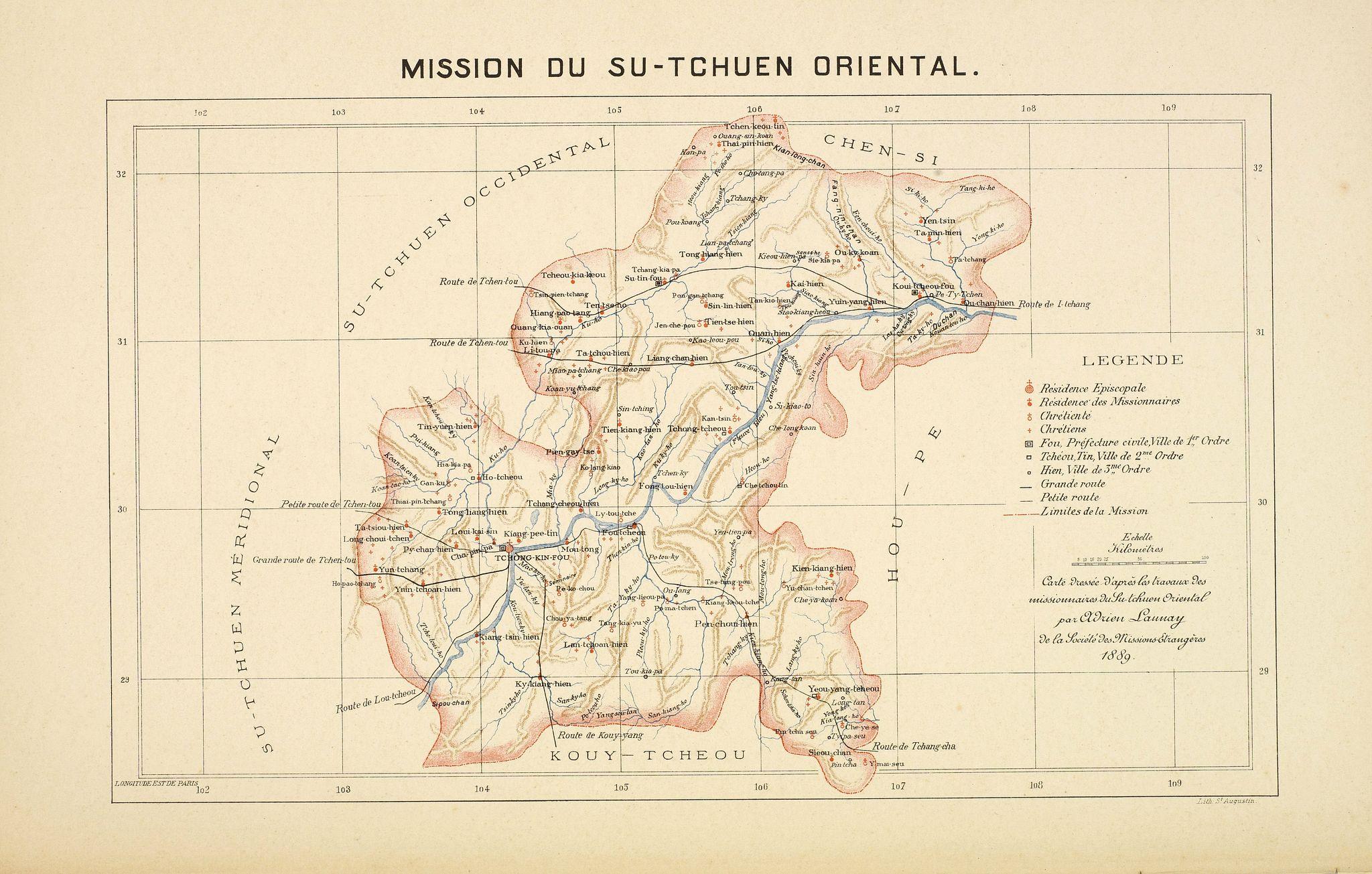 LAUNAY, A. -  Mission du Su-Tchuen Oriental.
