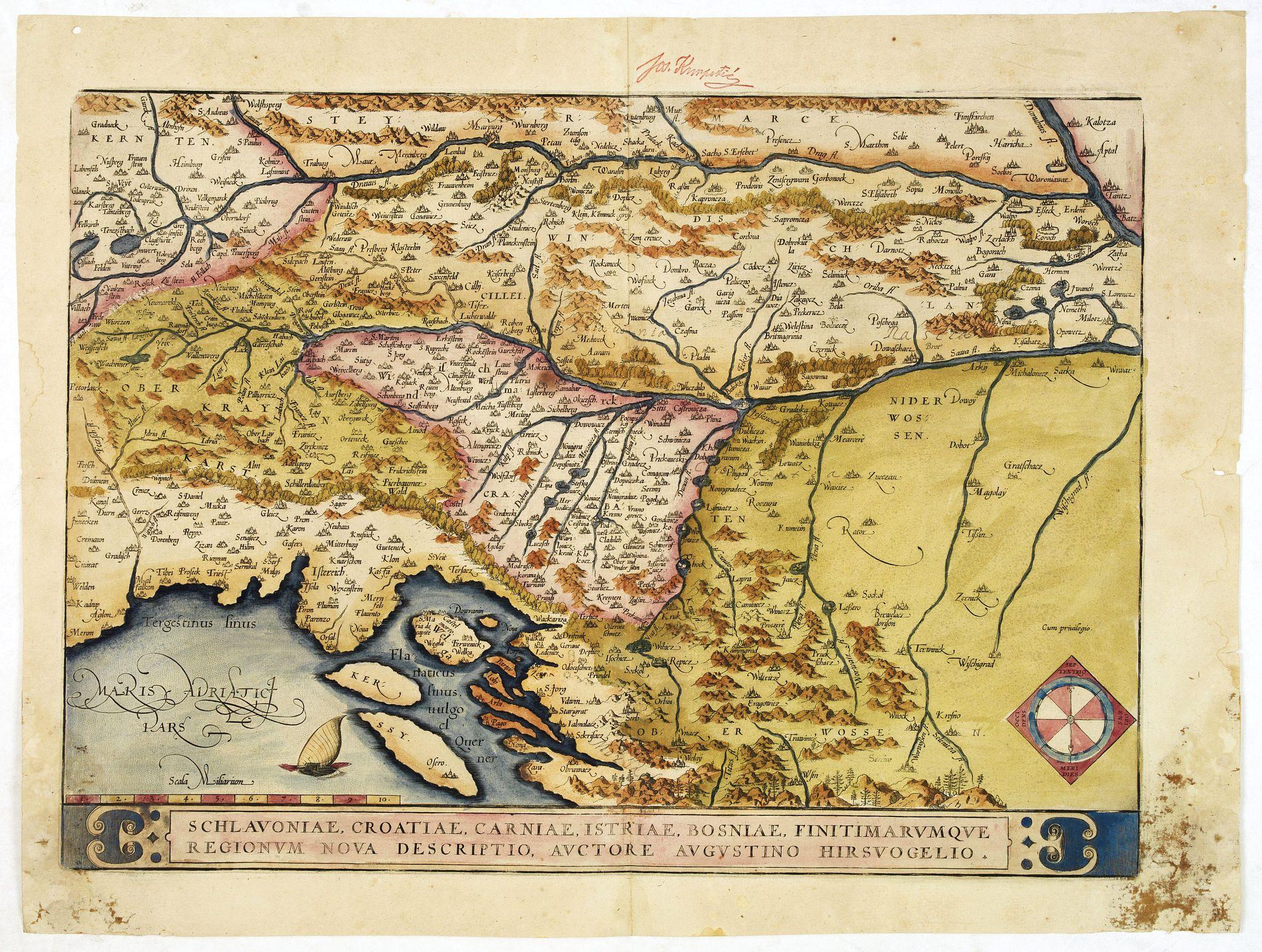 ORTELIUS, A. -  Schlavoniae, Croatiae, Carniale.. Bosniae. . .