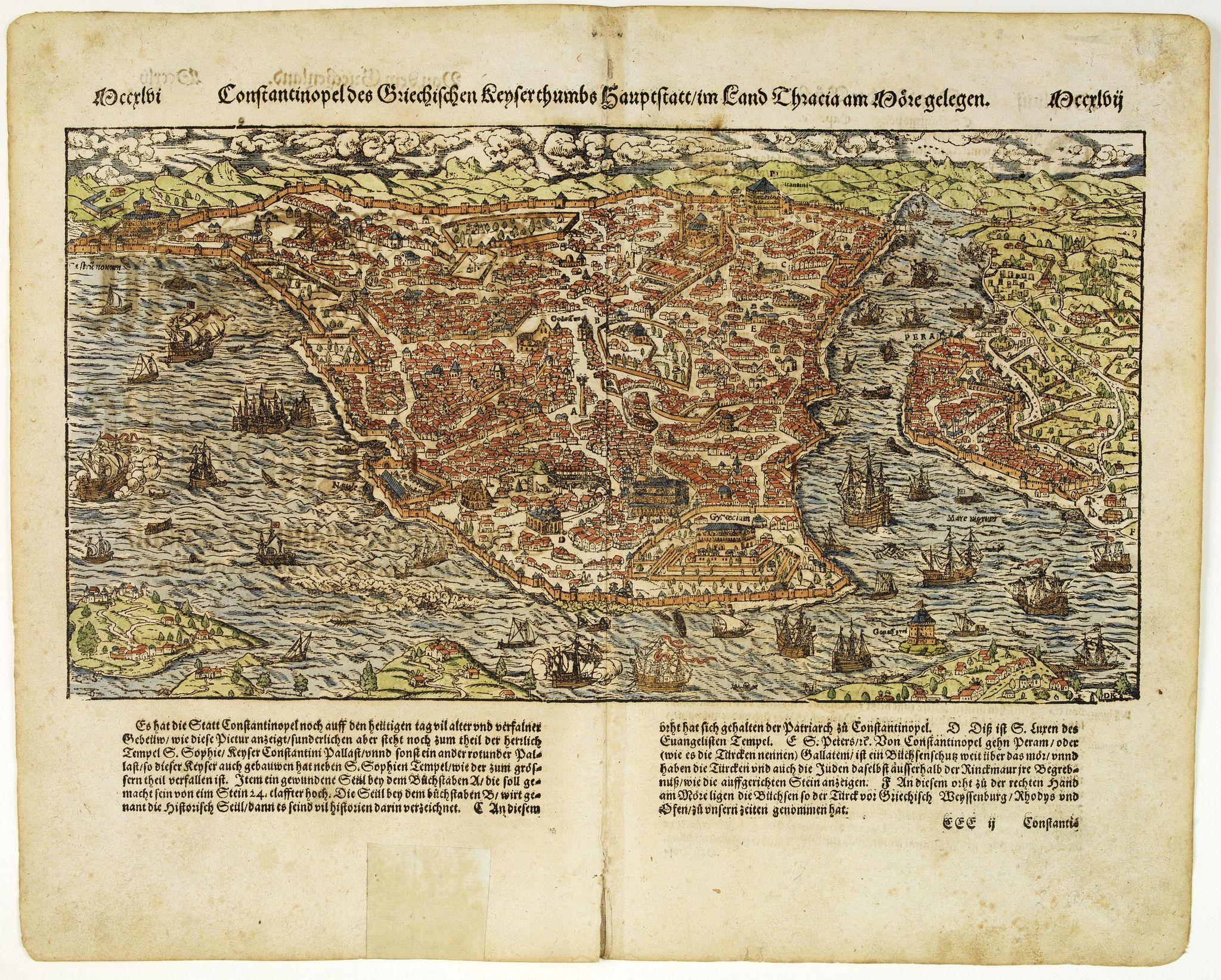 MÜNSTER, S. -  Constantinopel des Griechischen Keijserthumbs Hauptstatt  im Lande Thracia am Meere gelegen.