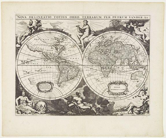 VAN DER AA, P. - Nova delineatio Orbis Terrarum..