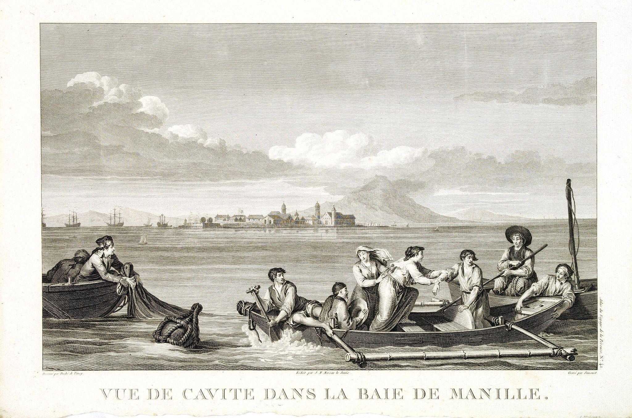 LA PEROUSE, J. F. G. -  Vue de cavite dans la Baie de Manille.