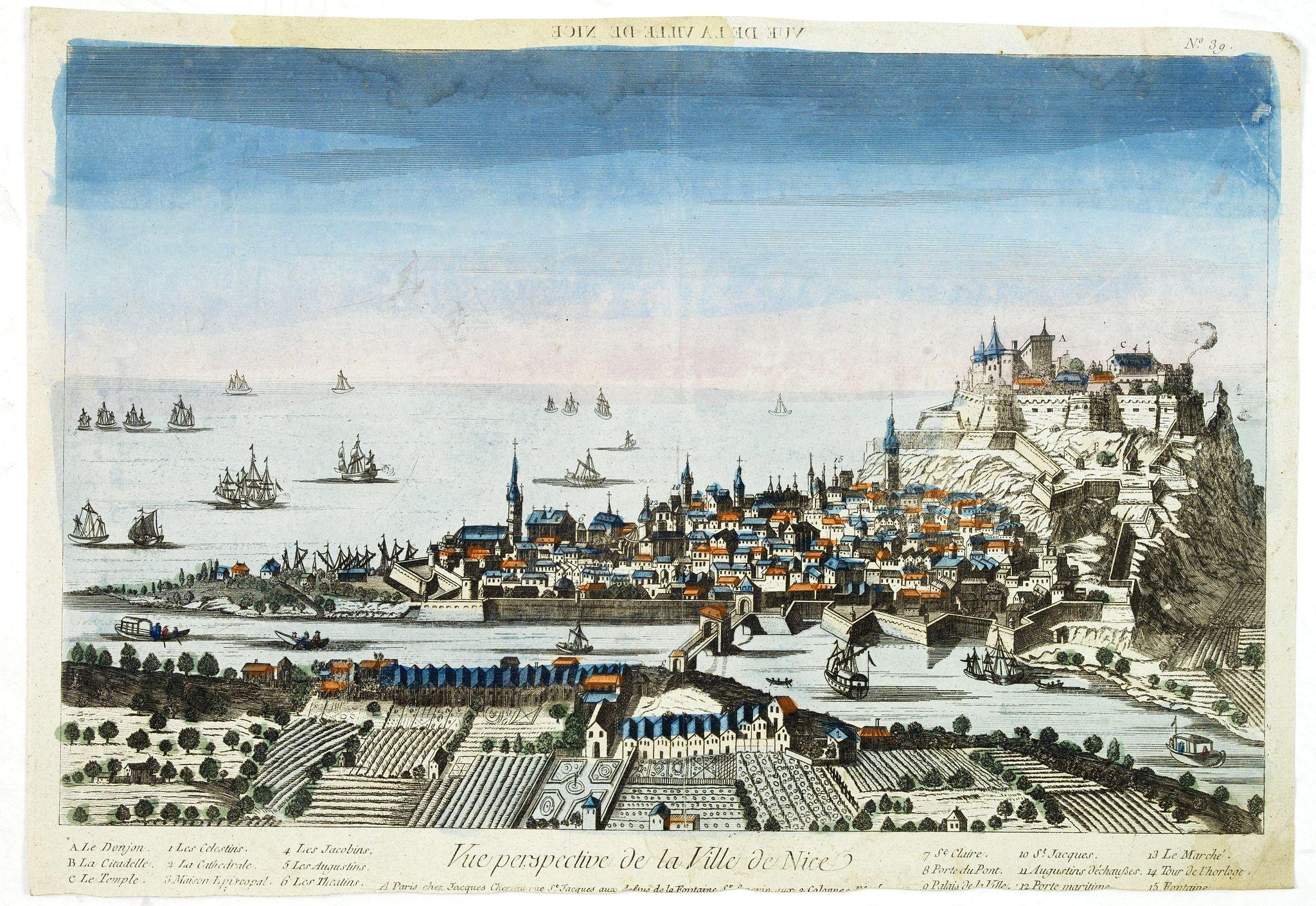 CHEREAU, J. -  Vue Perspective de la Ville de Nice.