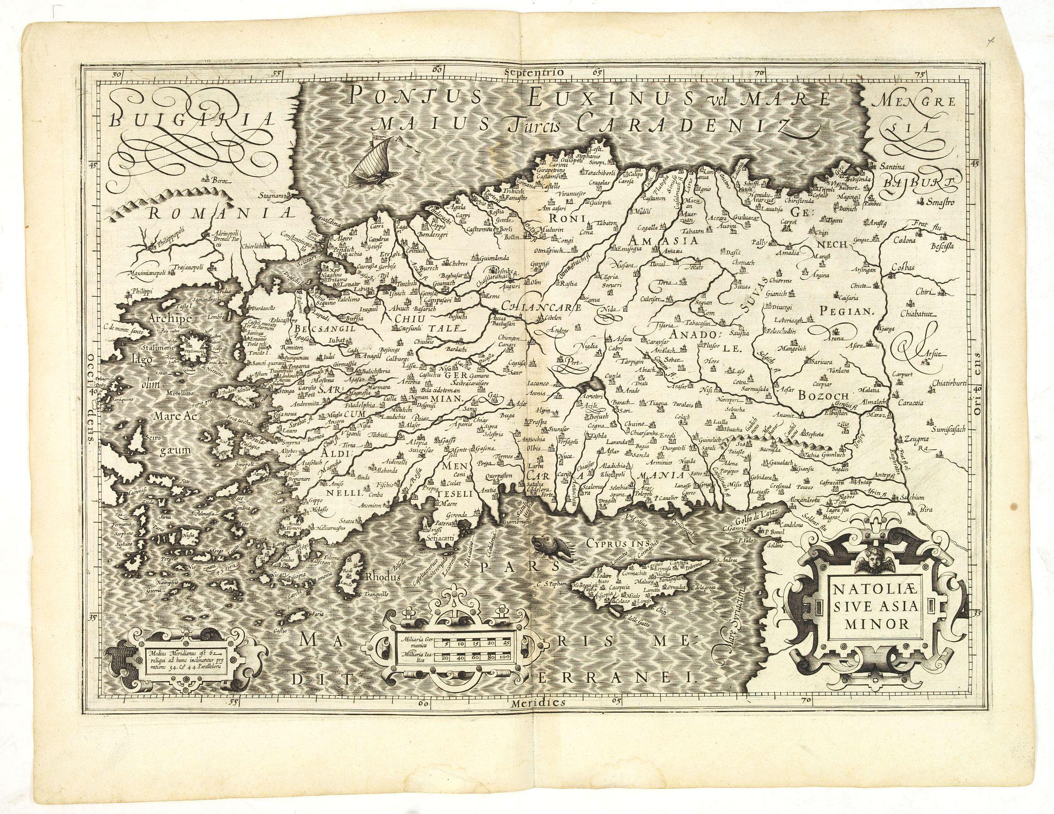 MERCATOR, G./ HONDIUS, J. -  Natoliae Sive Asia Minor.