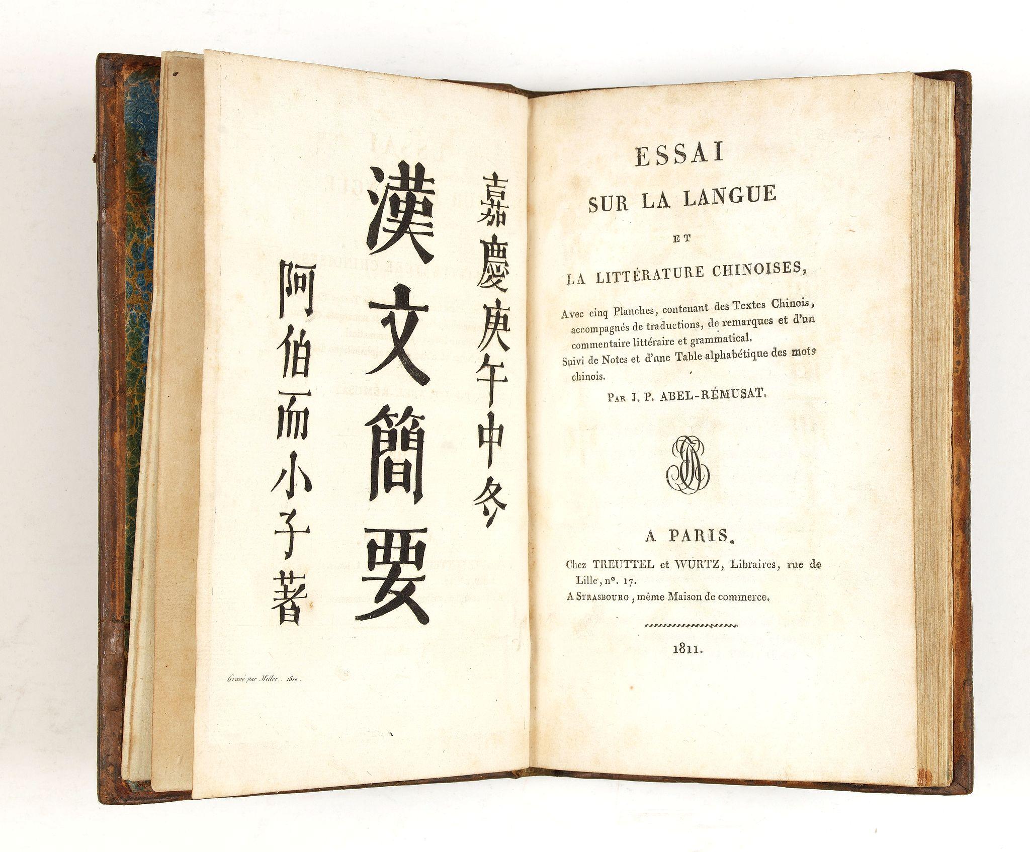 Abel-Remusat Jean-Pierre -  Essai sur la langue et la littérature chinoises.