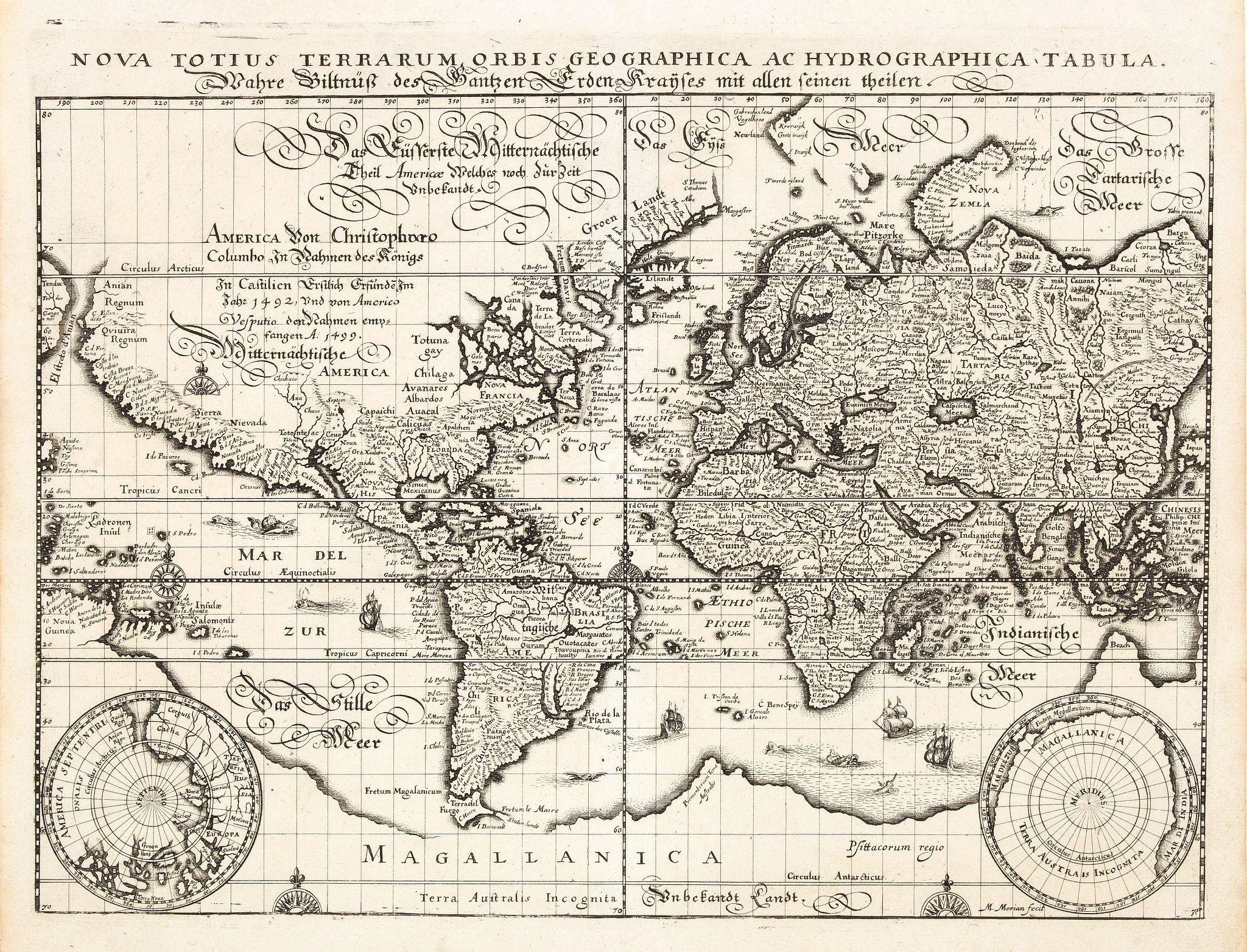 MERIAN, M. - Nova totius terrarum orbis geographica ac hydrographica..