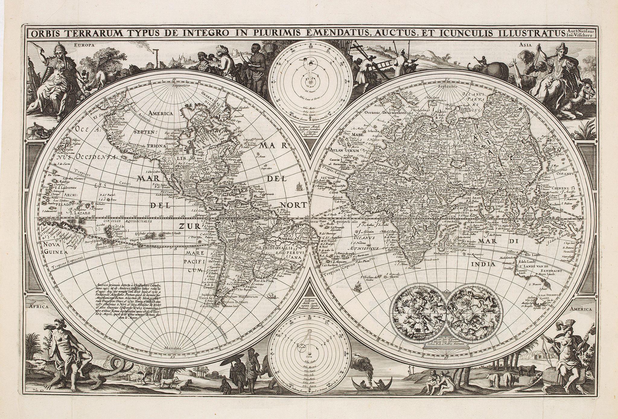 VISSCHER,C. jzn. - Orbis Terrarum Typus De Integro In Plurimis. . .