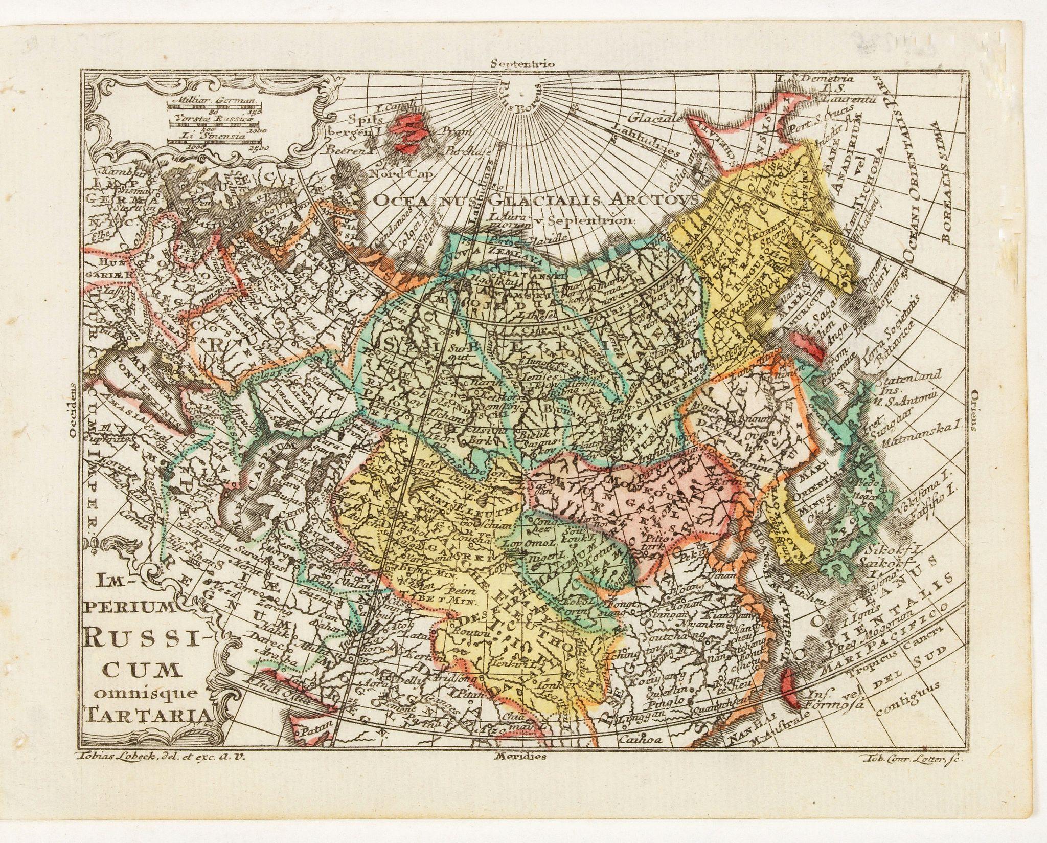 LOTTER, T.C. -  Imperium Russicum omnisque Tartaria.