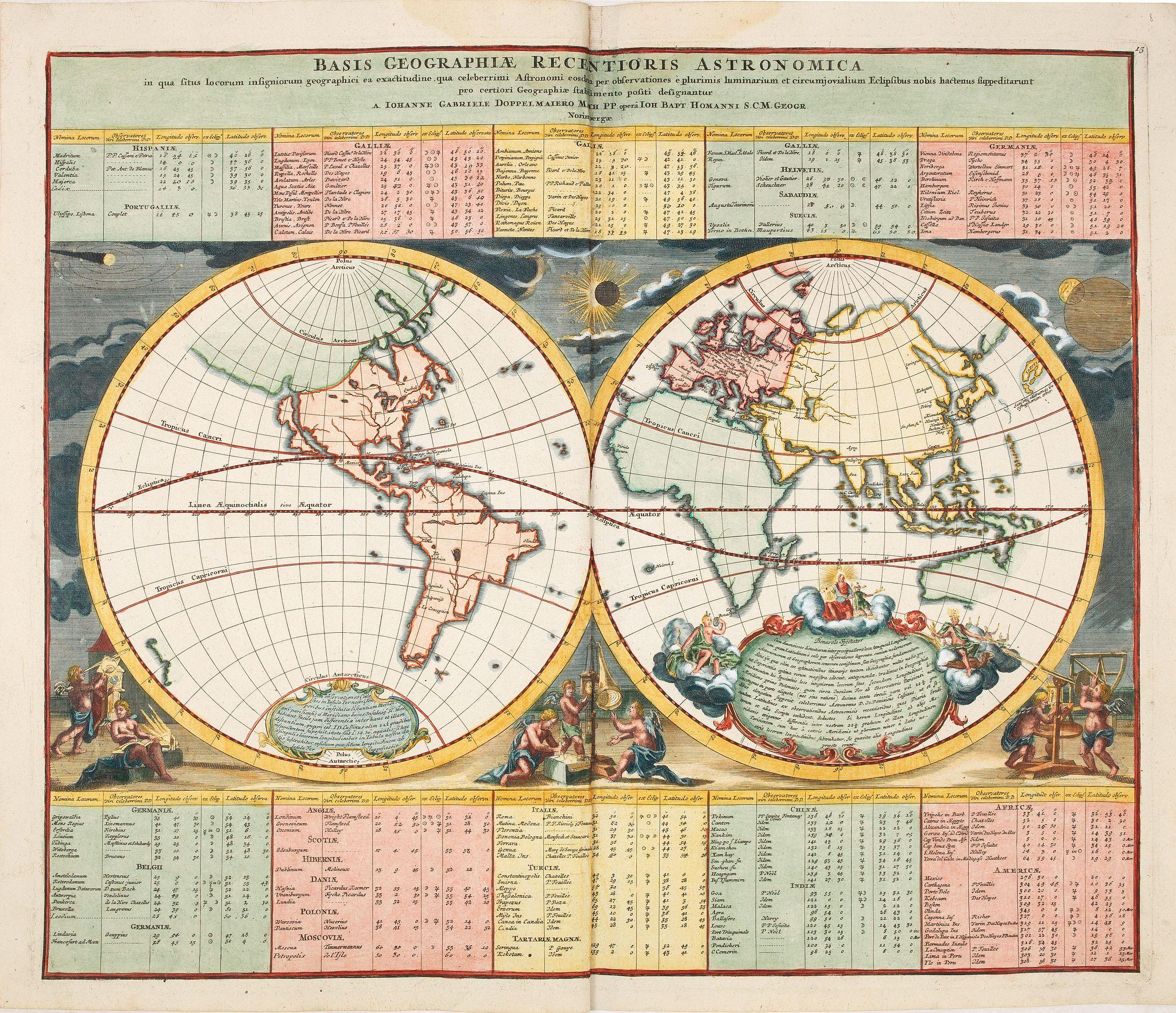 HOMANN, J.B. -  Basis Geographiae recentioris astronomica..