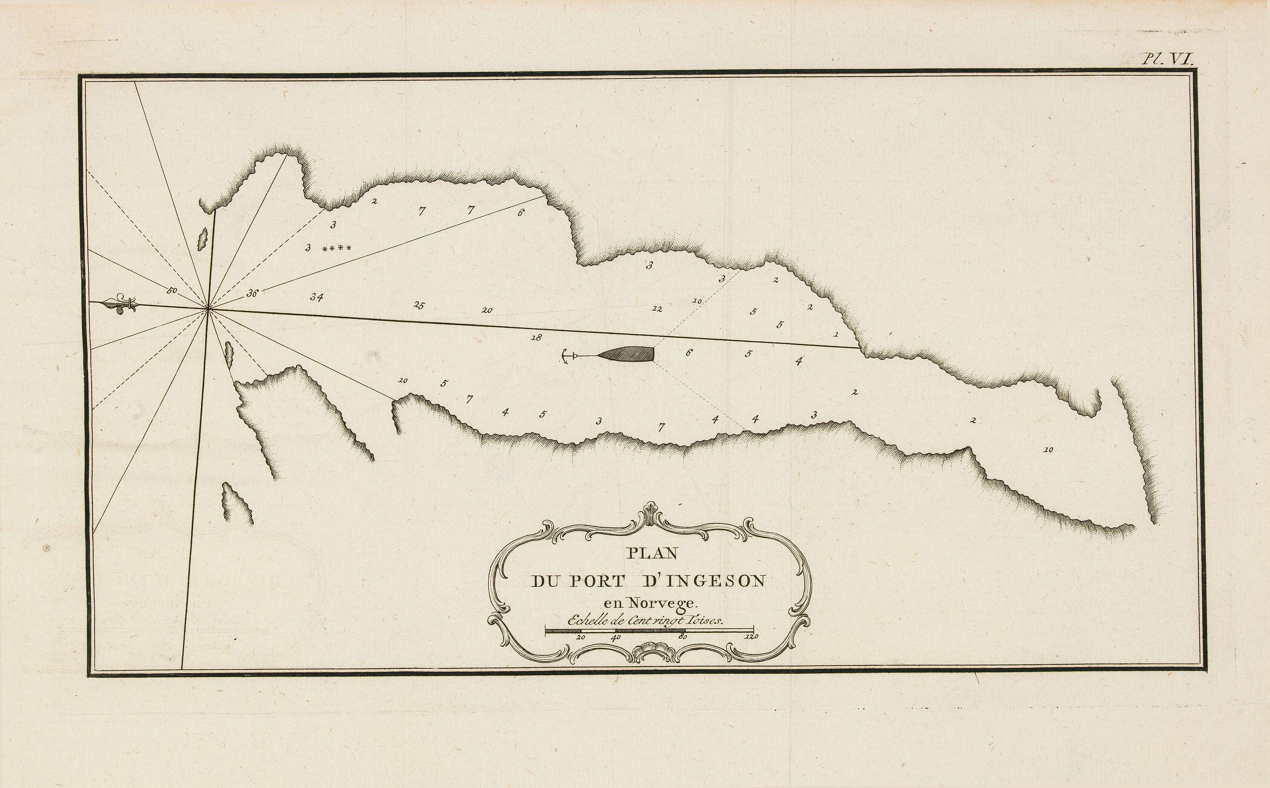 BELLIN, J.N. -  Plan du port d'Ingeson en Norvege.