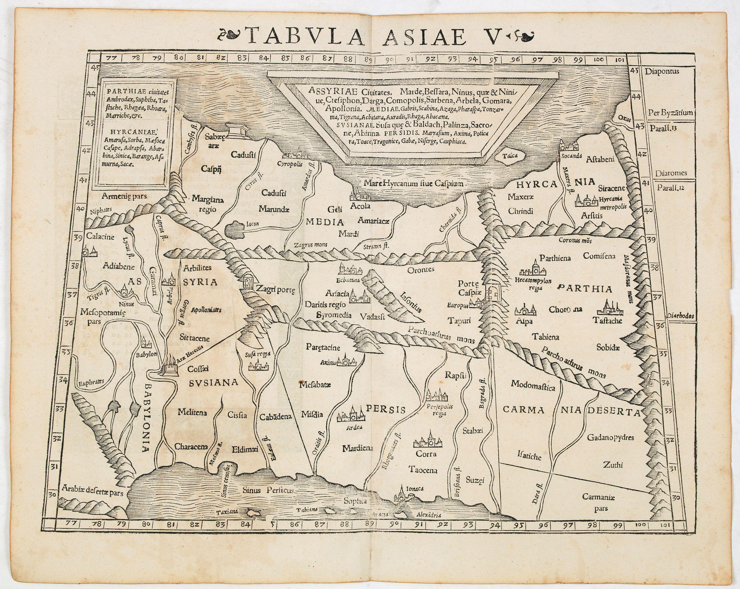 MÜNSTER, S. -  Tabula Asiae V (Persia)