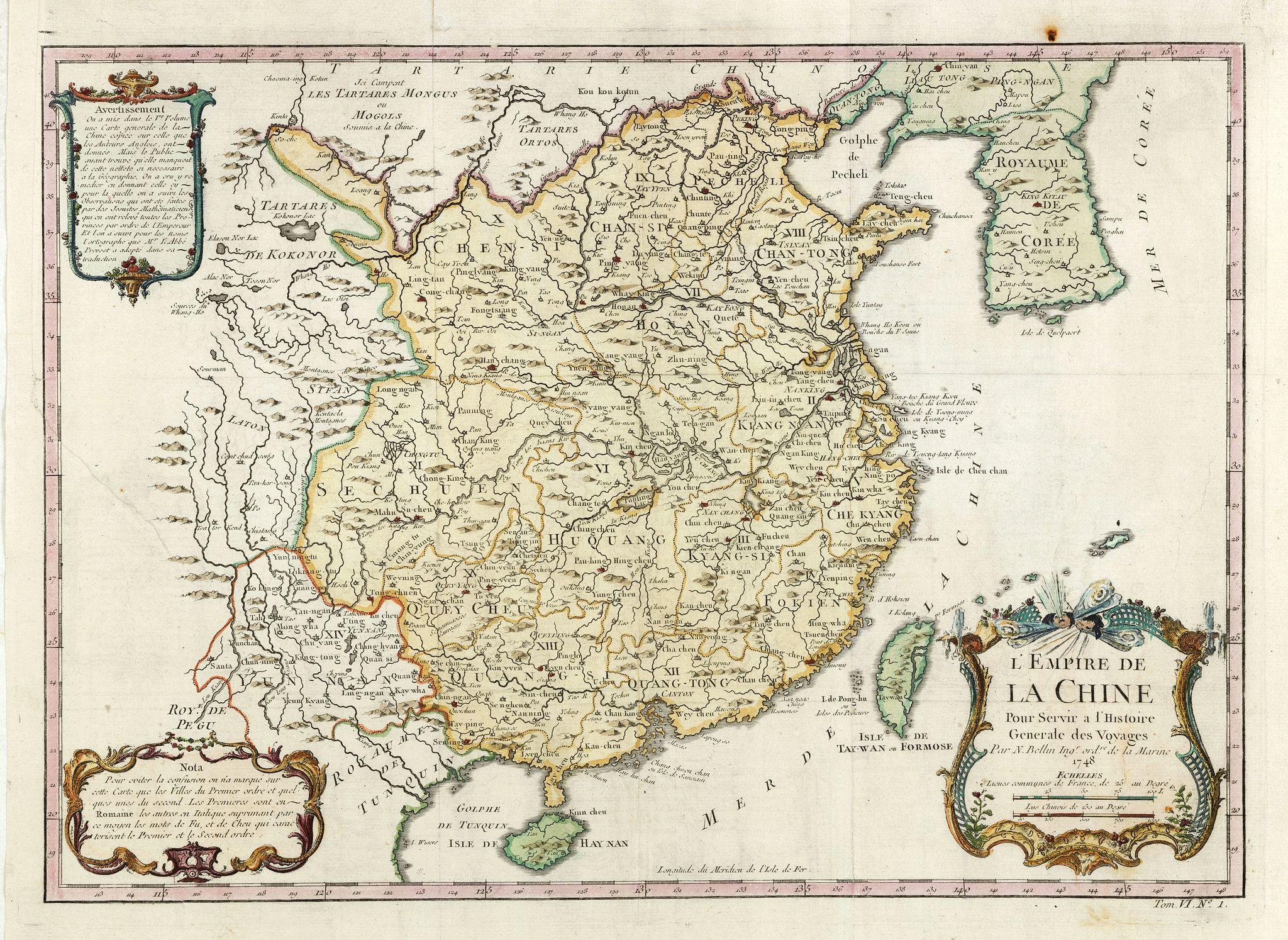 BELLIN, J.N. -  L'Empire de la Chine.