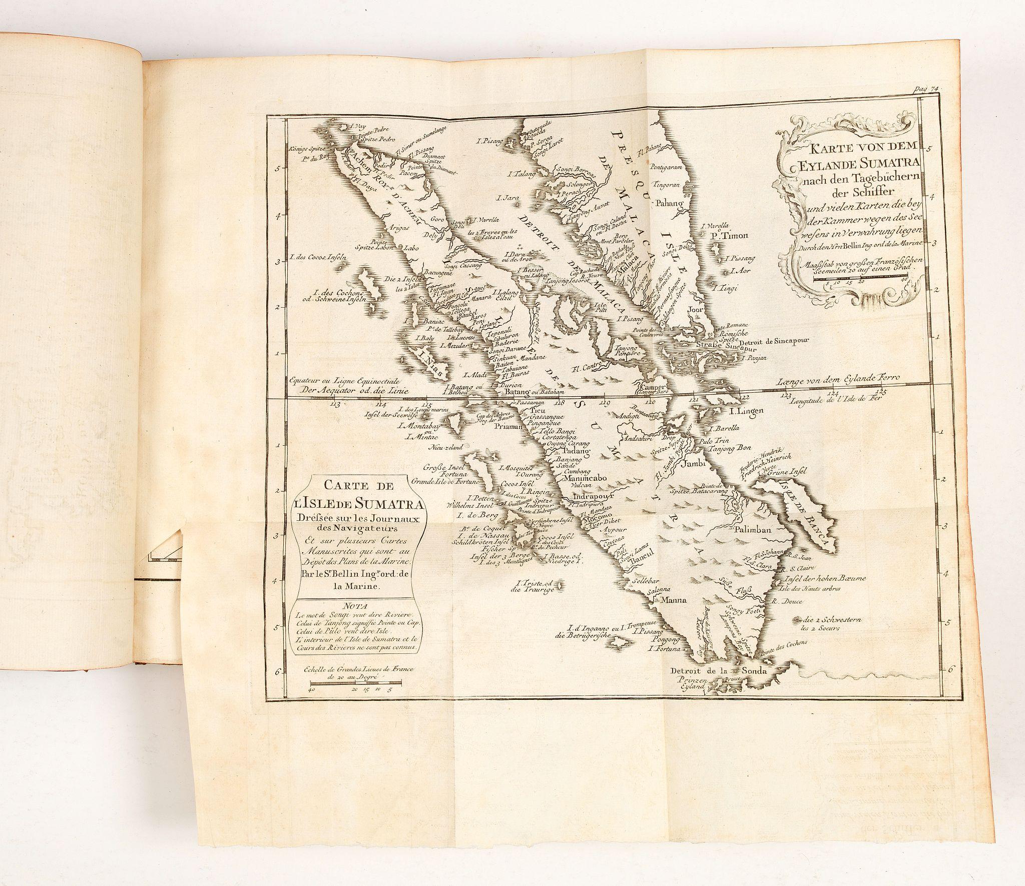 BELLIN, J.N. / ARKSTEE / MERKUS -  Histoire universelle depuis le commmencement du monde jusqu'a present. Tome Vingt-unieme. Portugais, Espagnols, Hollanois etc