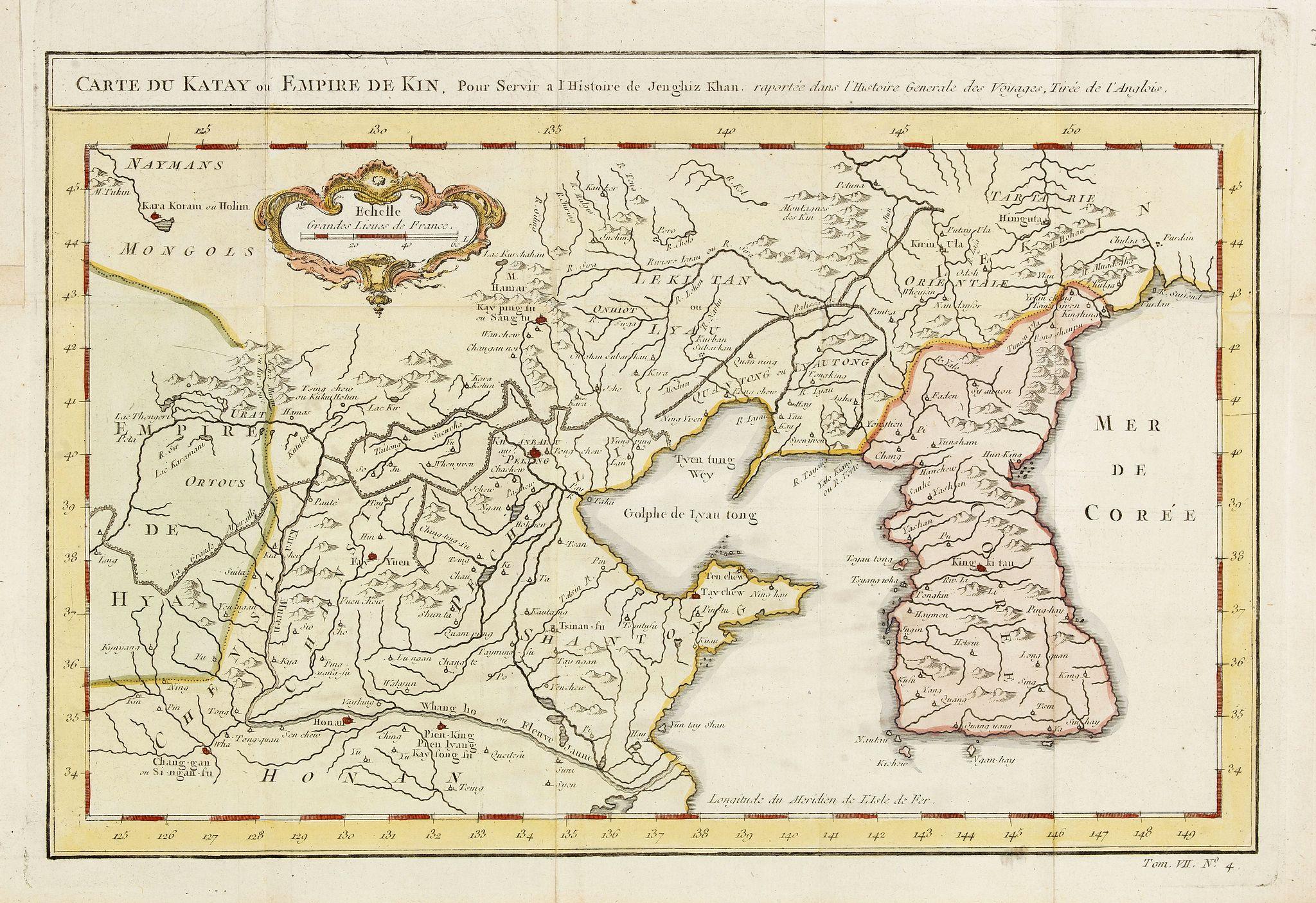 BELLIN, J.N. -  Carte du Katay ou Empire de Kin. . .
