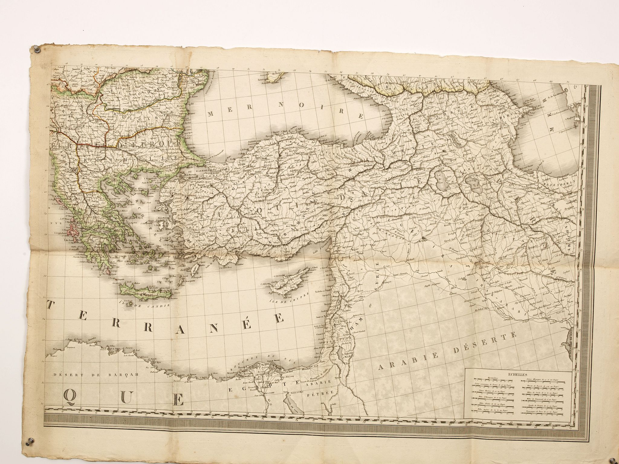 LAPIE, P.,  (Untitled map of Turkey, Greece and the Near East., antique map, old maps