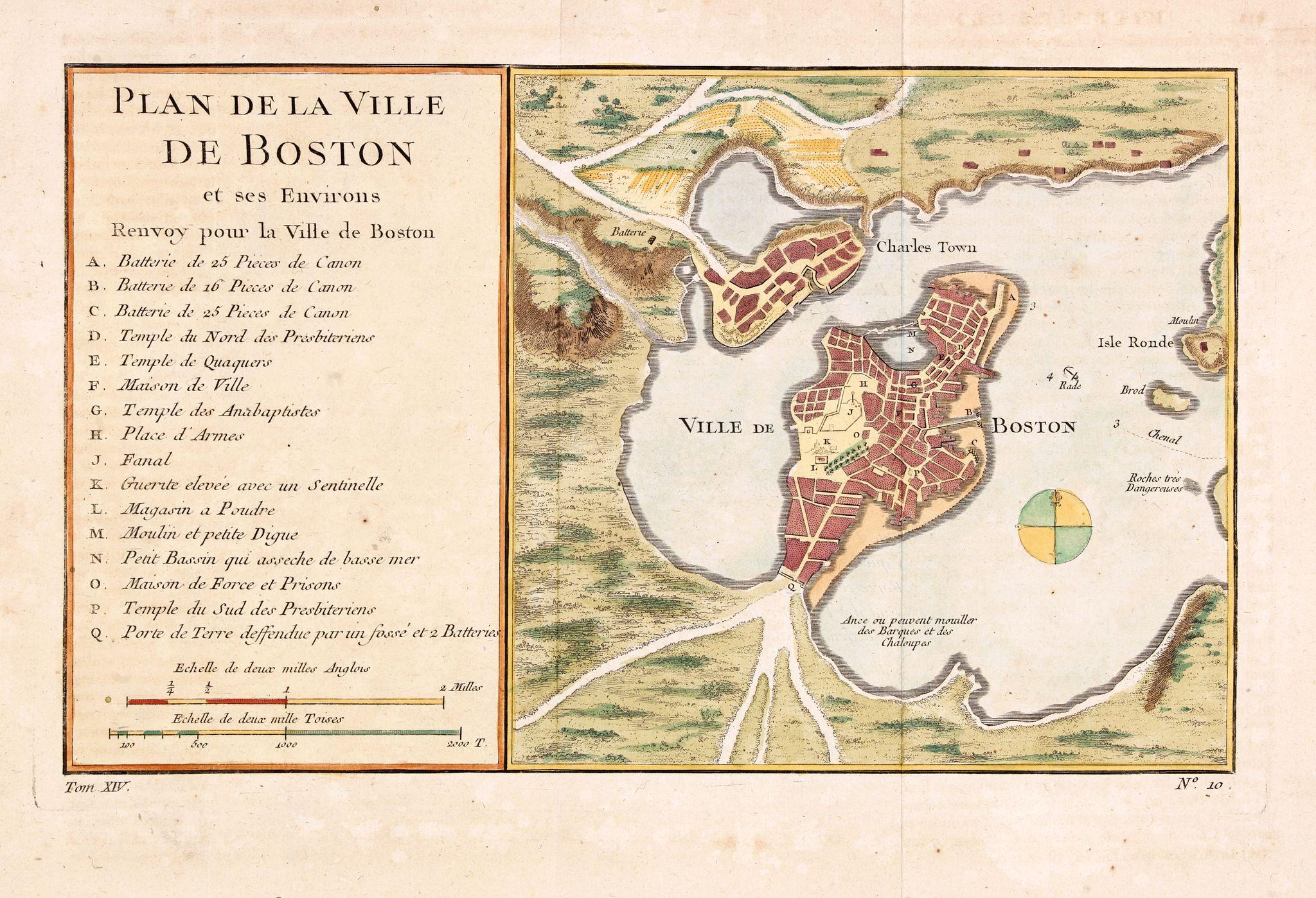 BELLIN, J.N. -  Plan de la Ville de Boston et ses Environs.