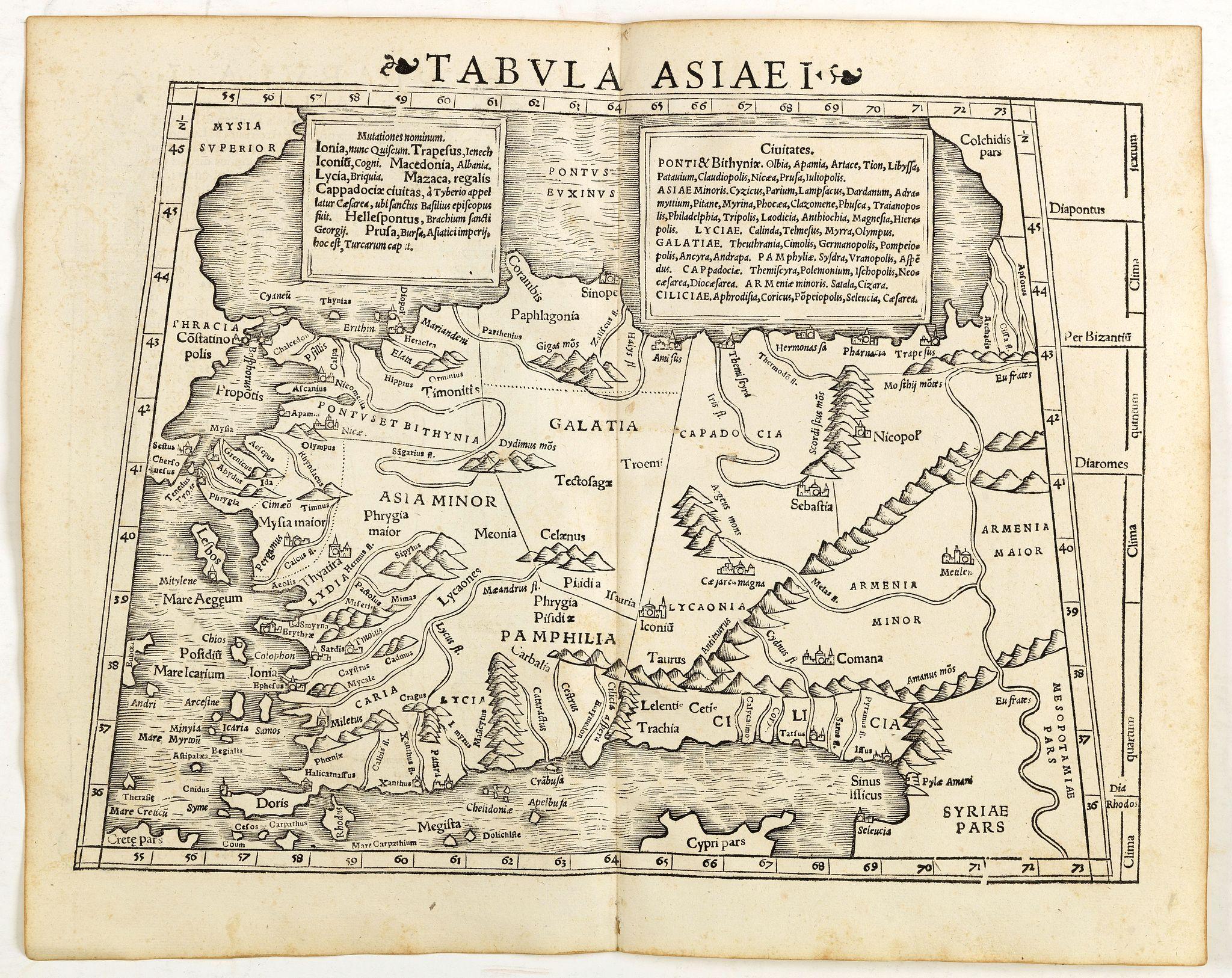 MÜNSTER, S. -  Tabula Asiae I (Turkey)