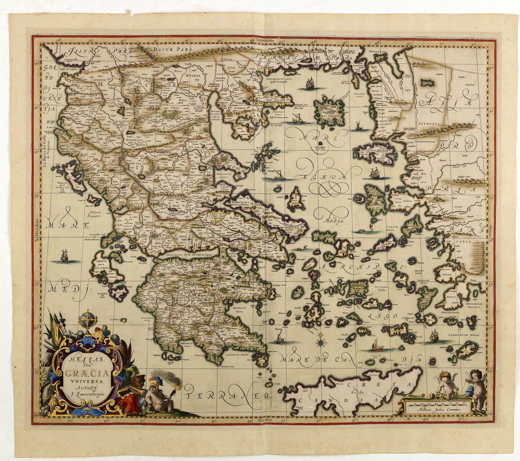 JANSSONIUS, J. -  Hellas Seu Graecia Universa Autore J. Laurenbergio.
