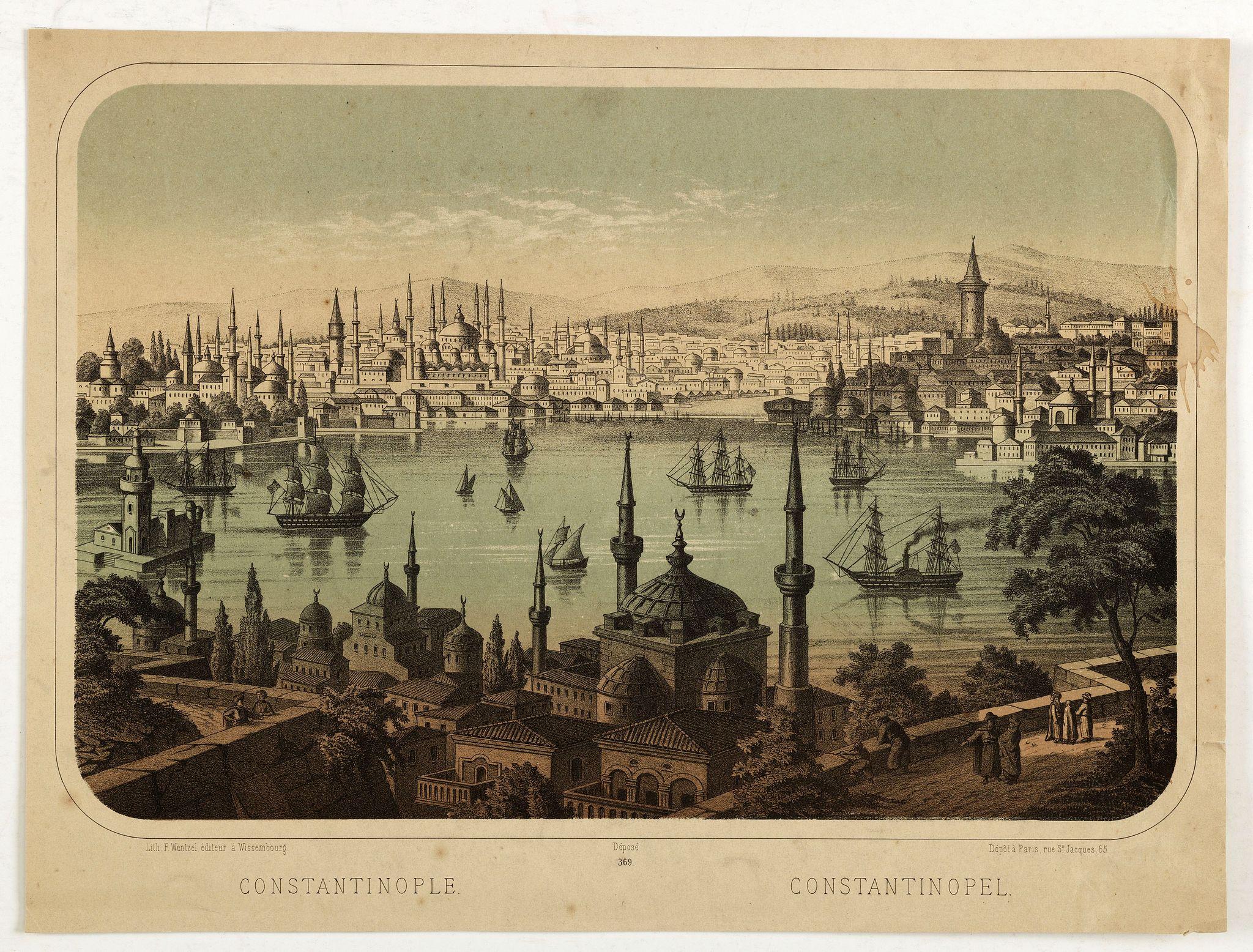 WENTZEL, F. Ch. -  Constantinople. 369