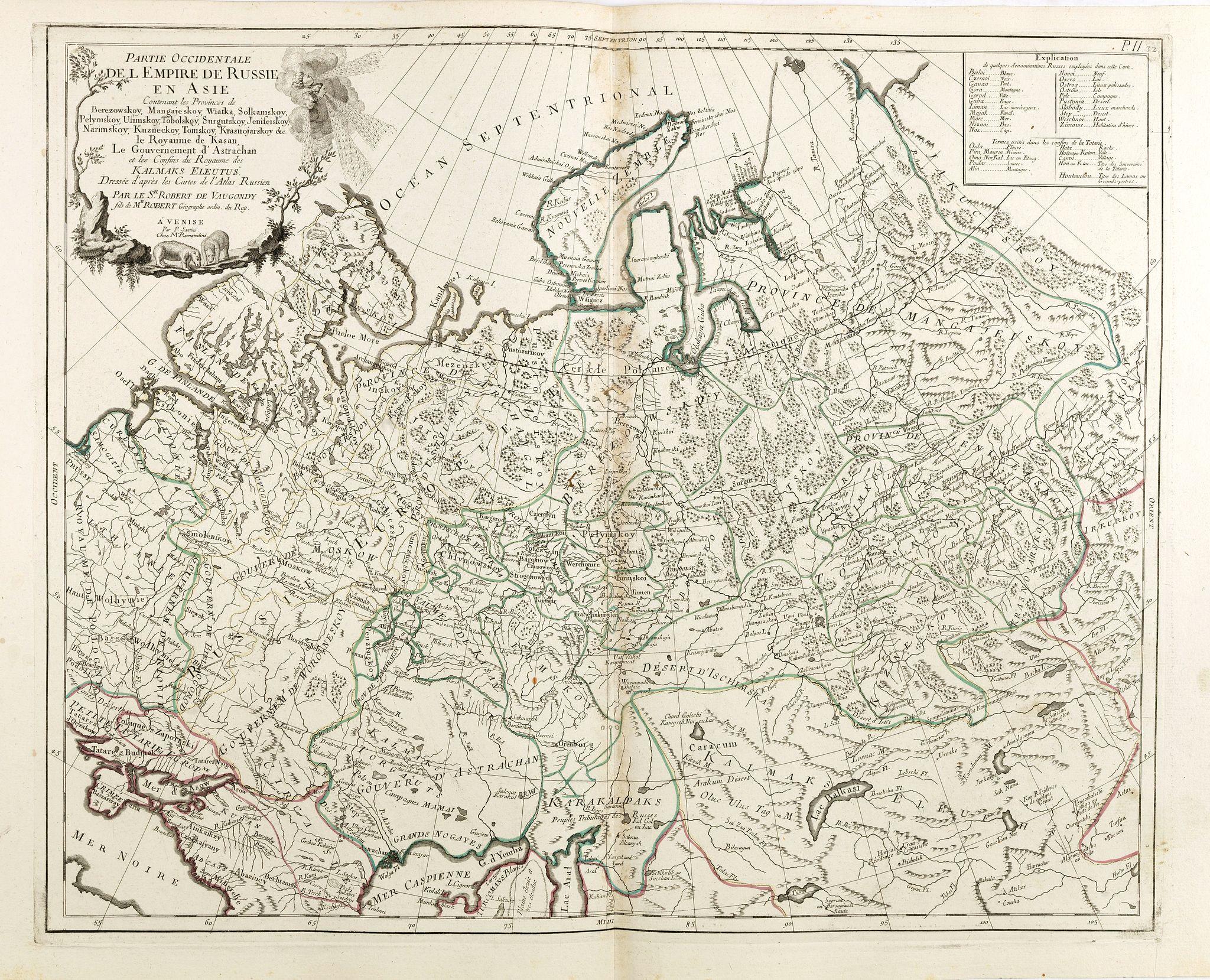 SANTINI, P. / REMONDINI, M. -  Partie Occidentale de l'Empire de Russie en Asie. . .