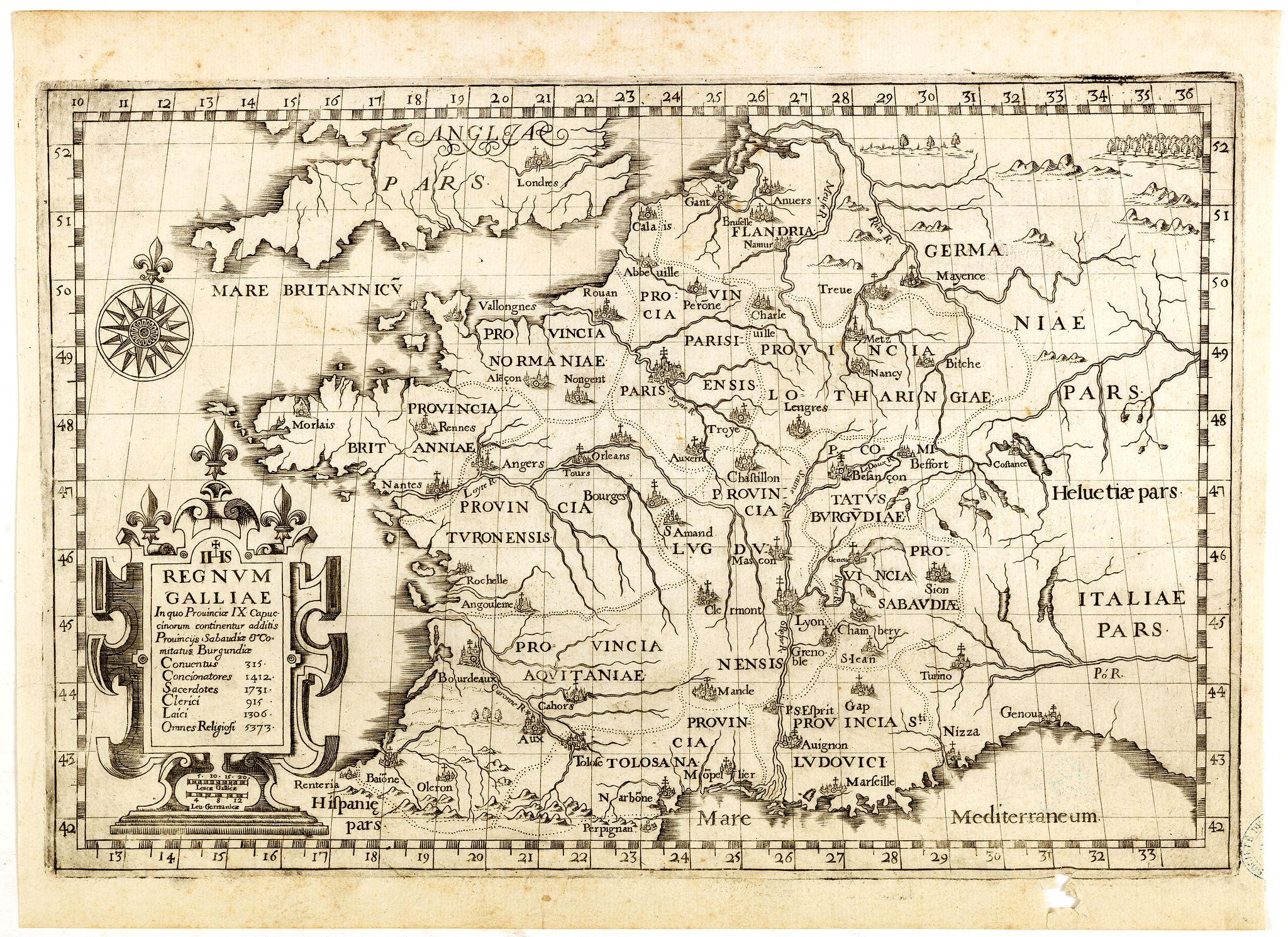 MONTECALERIO, Ioannis. A / GUCHEN, Maximus. -  Regnum Galliae. . .