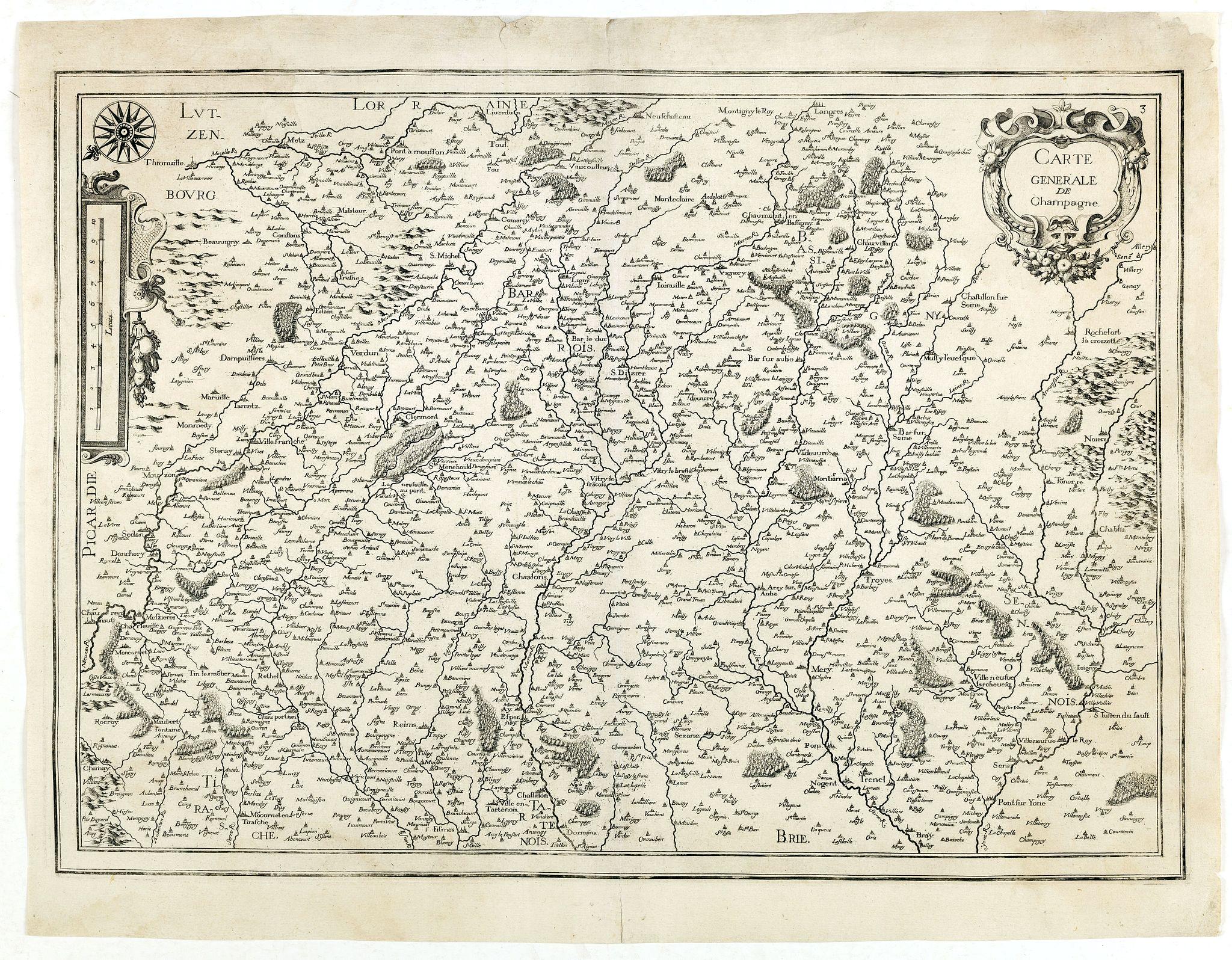 TASSIN, N. -  Carte generale de Champagne.