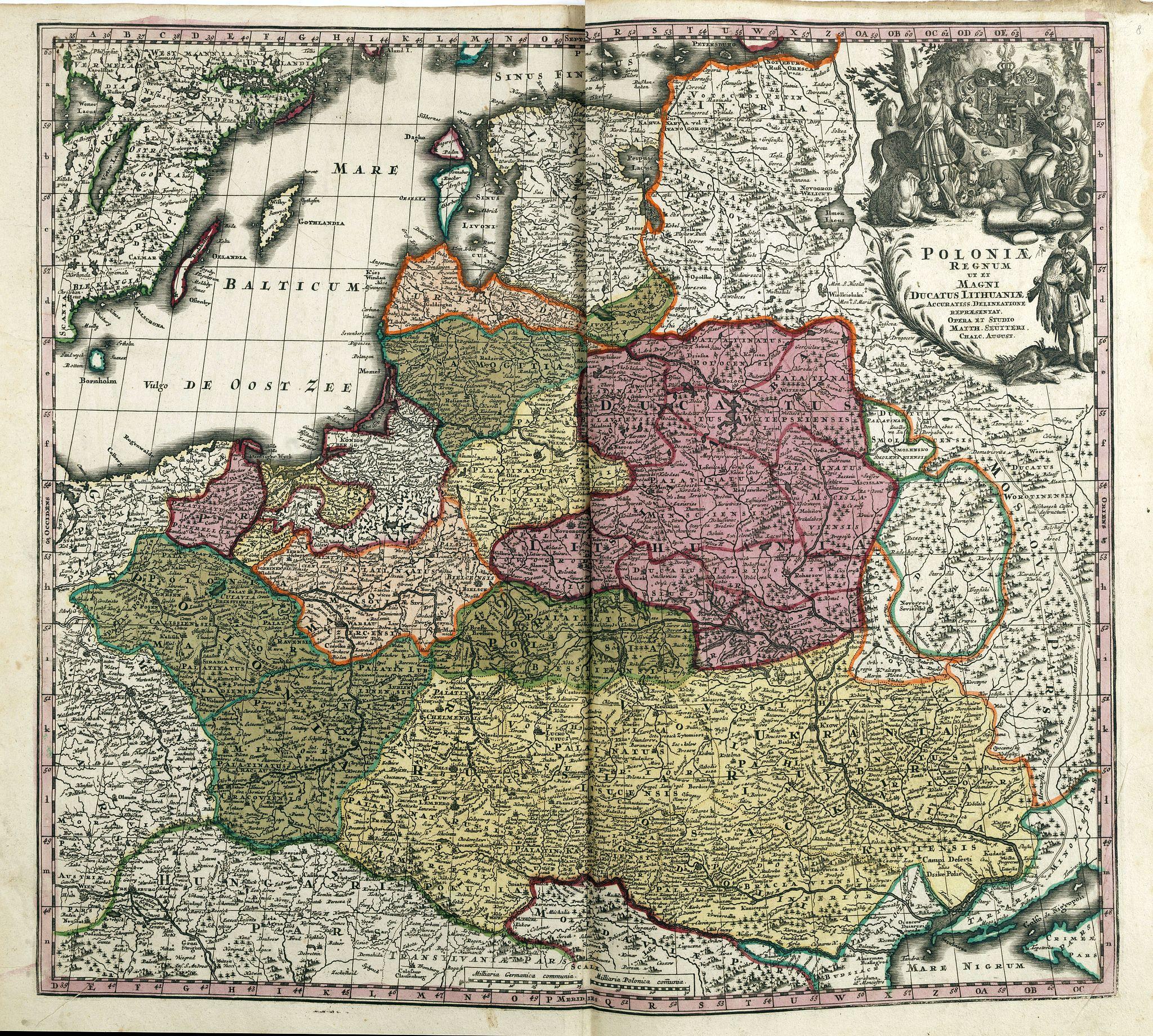 SEUTTER, M. -  Poloniae Regnum ut et Magni Ducatus Lithuaniae . . .