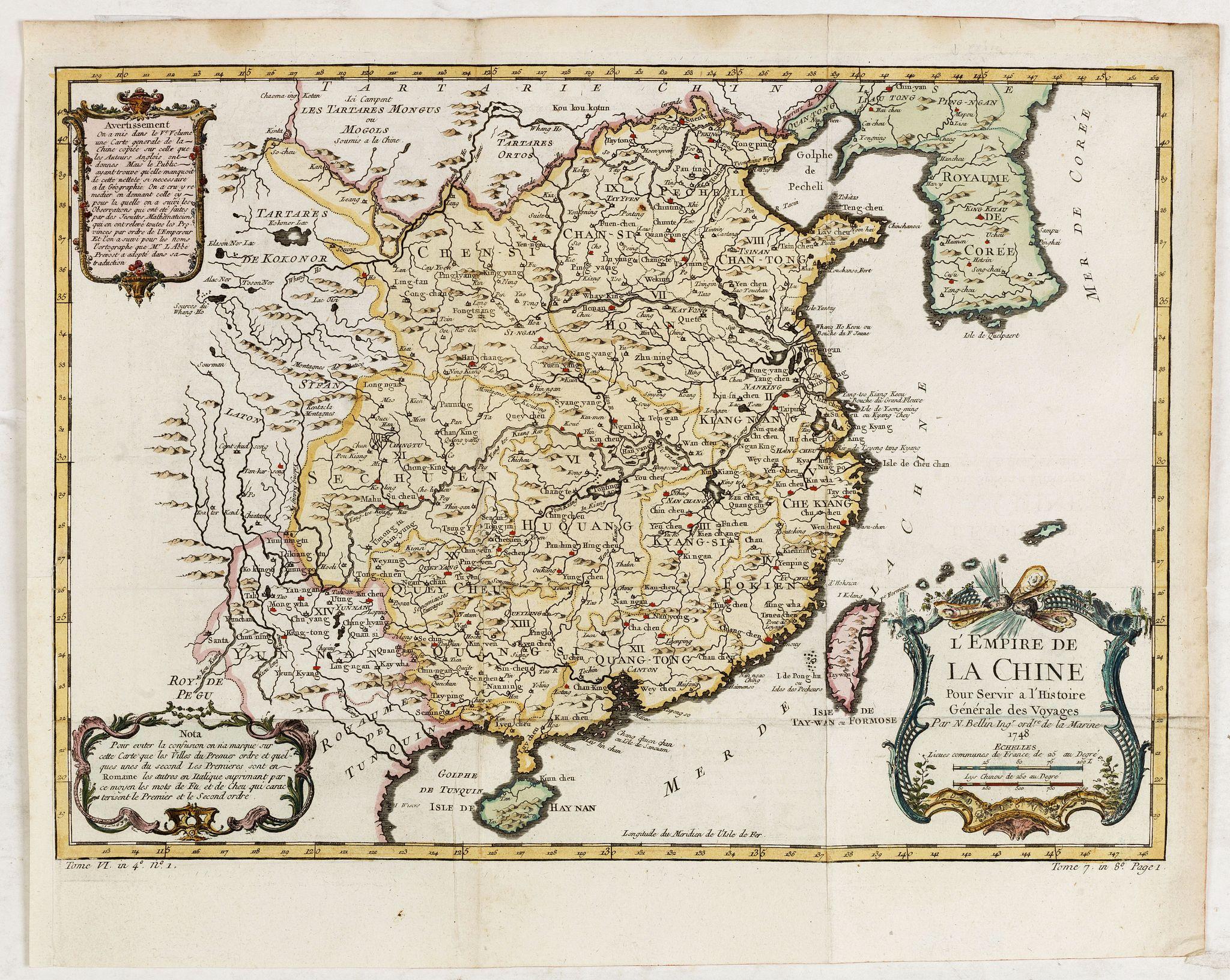 BELLIN, J.N. -  L'Empire de la Chine. . .