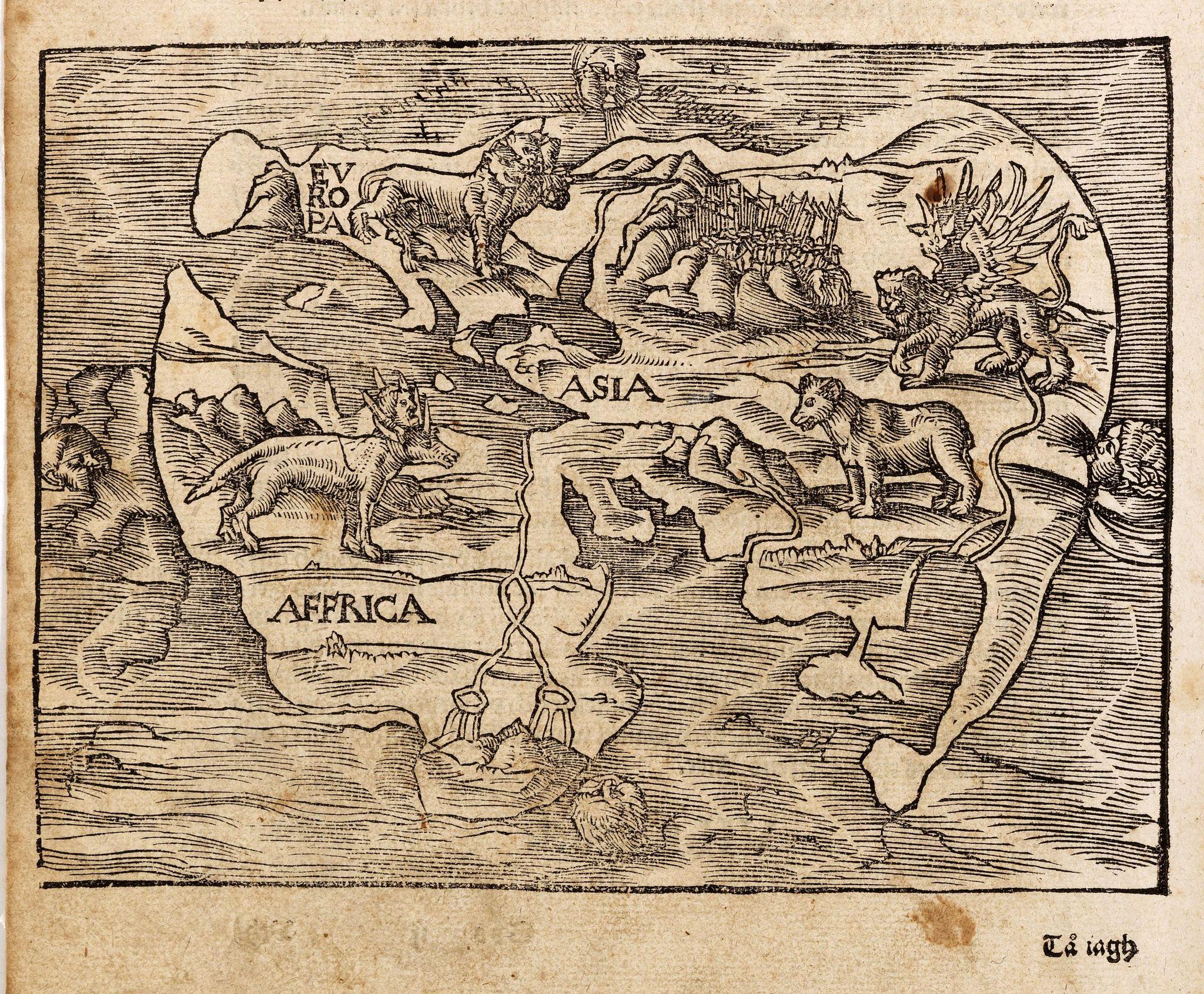 LUFT,H. after -  [No title - Daniel's Dream map - Rare Swedish edition]