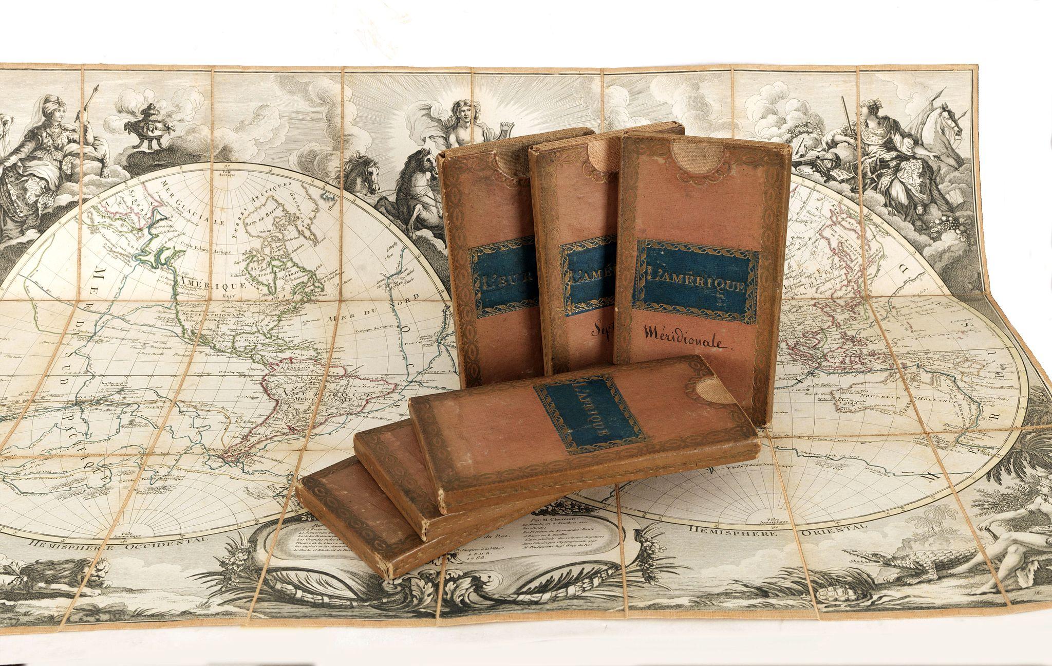 BRION DE LA TOUR, L. / DESNOS, L. Ch. - Set of World and Continents in original slip cases.
