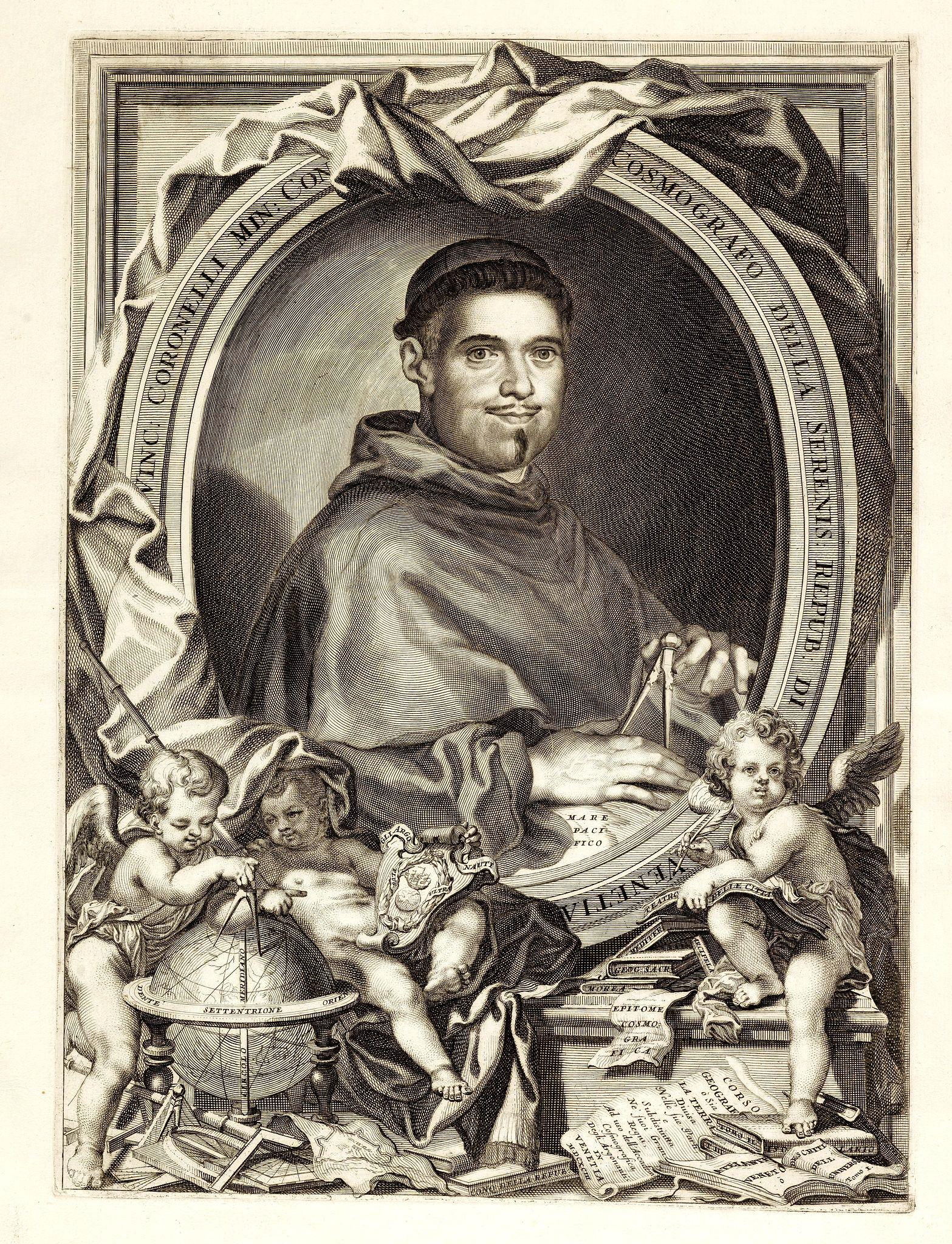 CORONELLI, V.M. -  Vinc: Coronelli Min: Con Cosmografo Della Serenis Repub: Di Venetia.