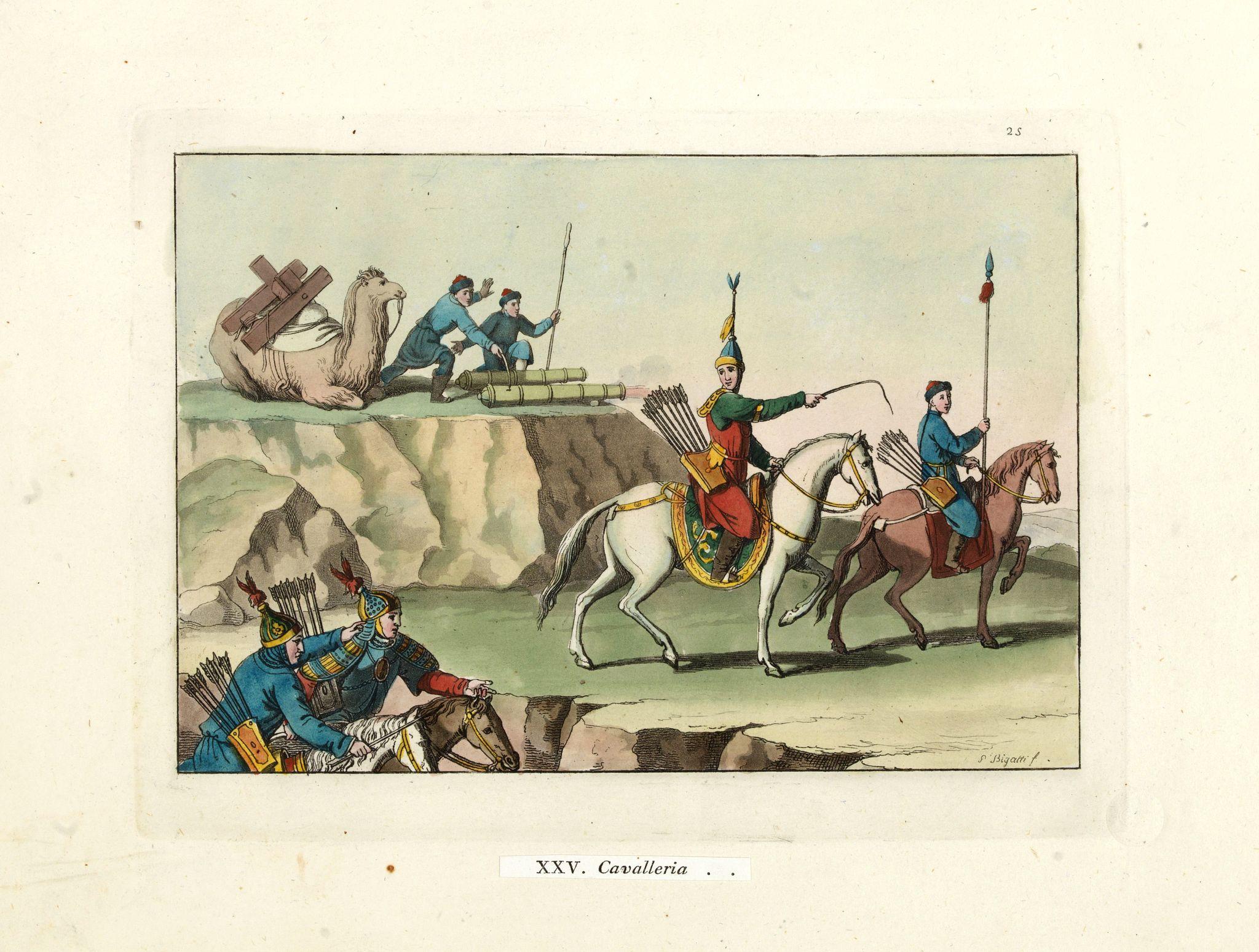 FERRARIO, G. -  [XXV Cavalleria ].
