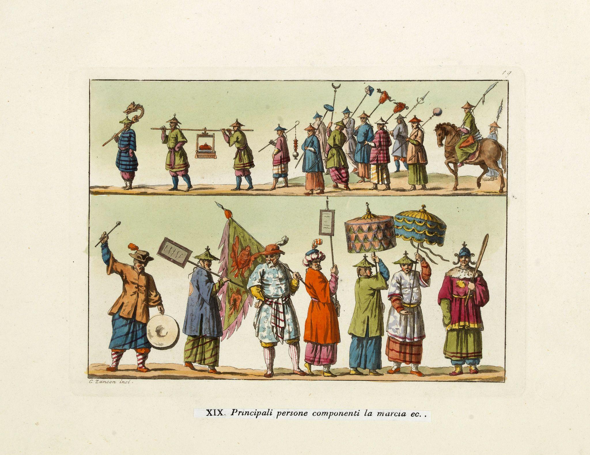 FERRARIO, G. -  [ XIX. Principali persone componenti la marcia ec..].