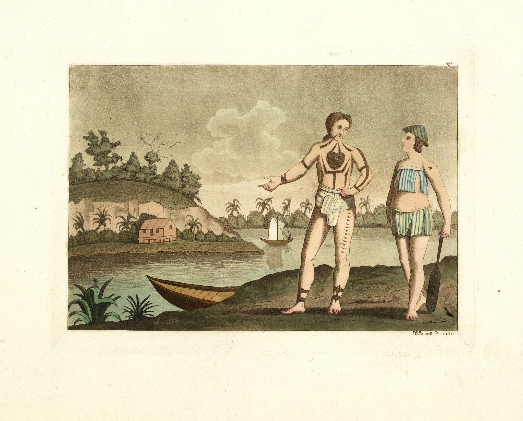 FERRARIO, G. -  [Abiti degli isolani di Pogghy ].
