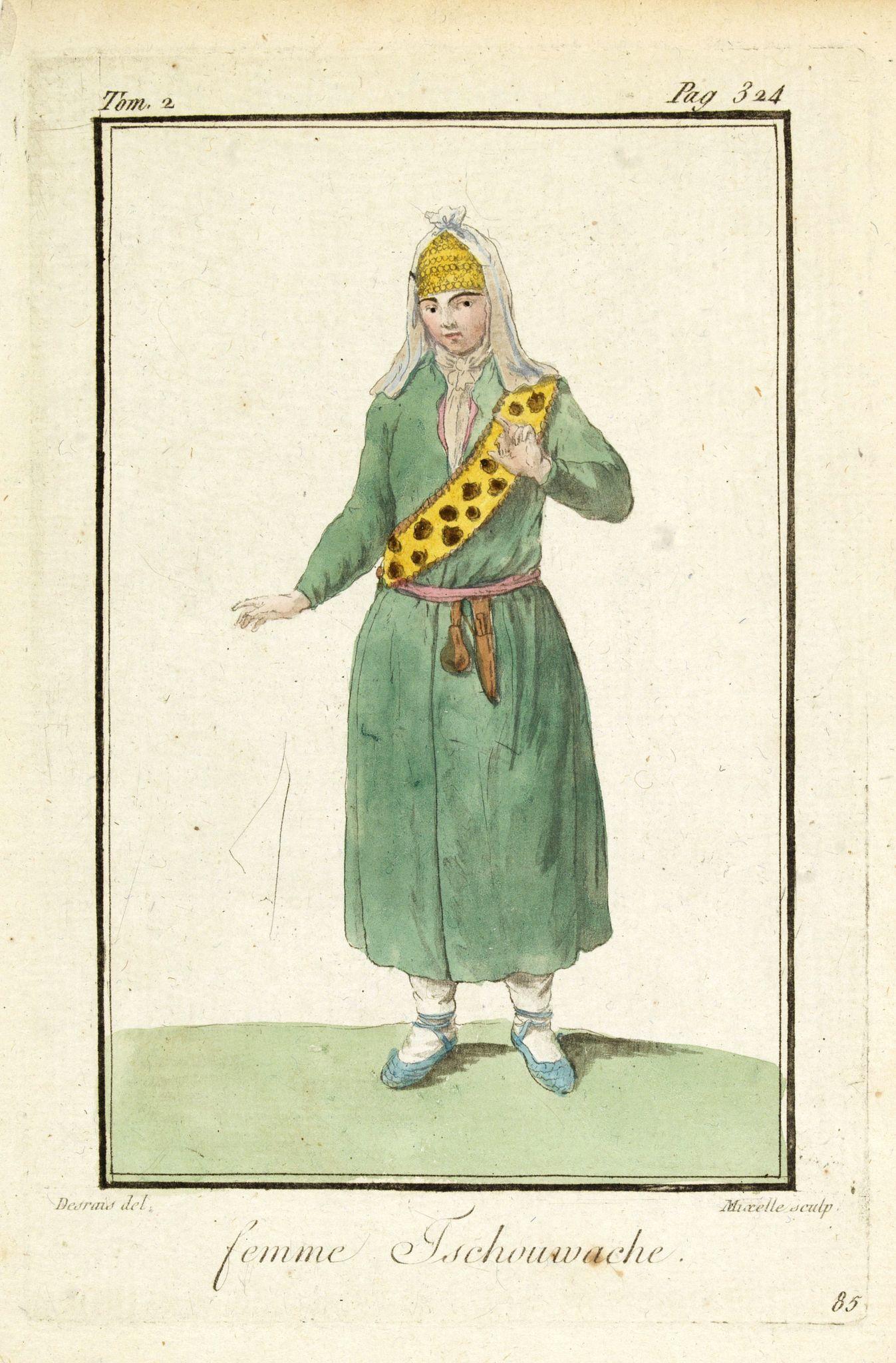 GRASSET DE SAINT SAUVEUR, J. -  Femme Tschouwache.