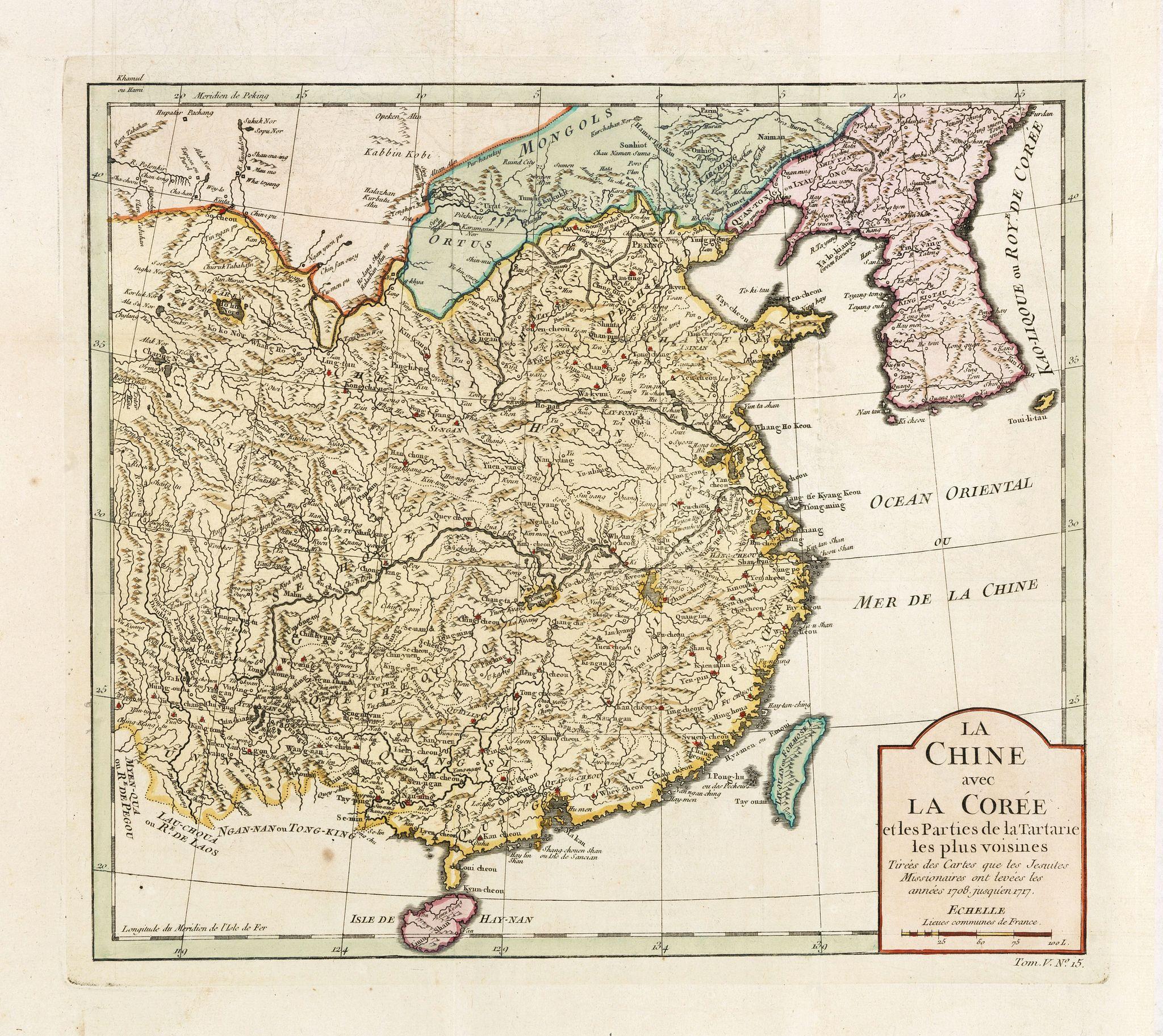 BELLIN, J.N. -  La Chine avec La Corée et les parties de la Tartarie les plus voisines..