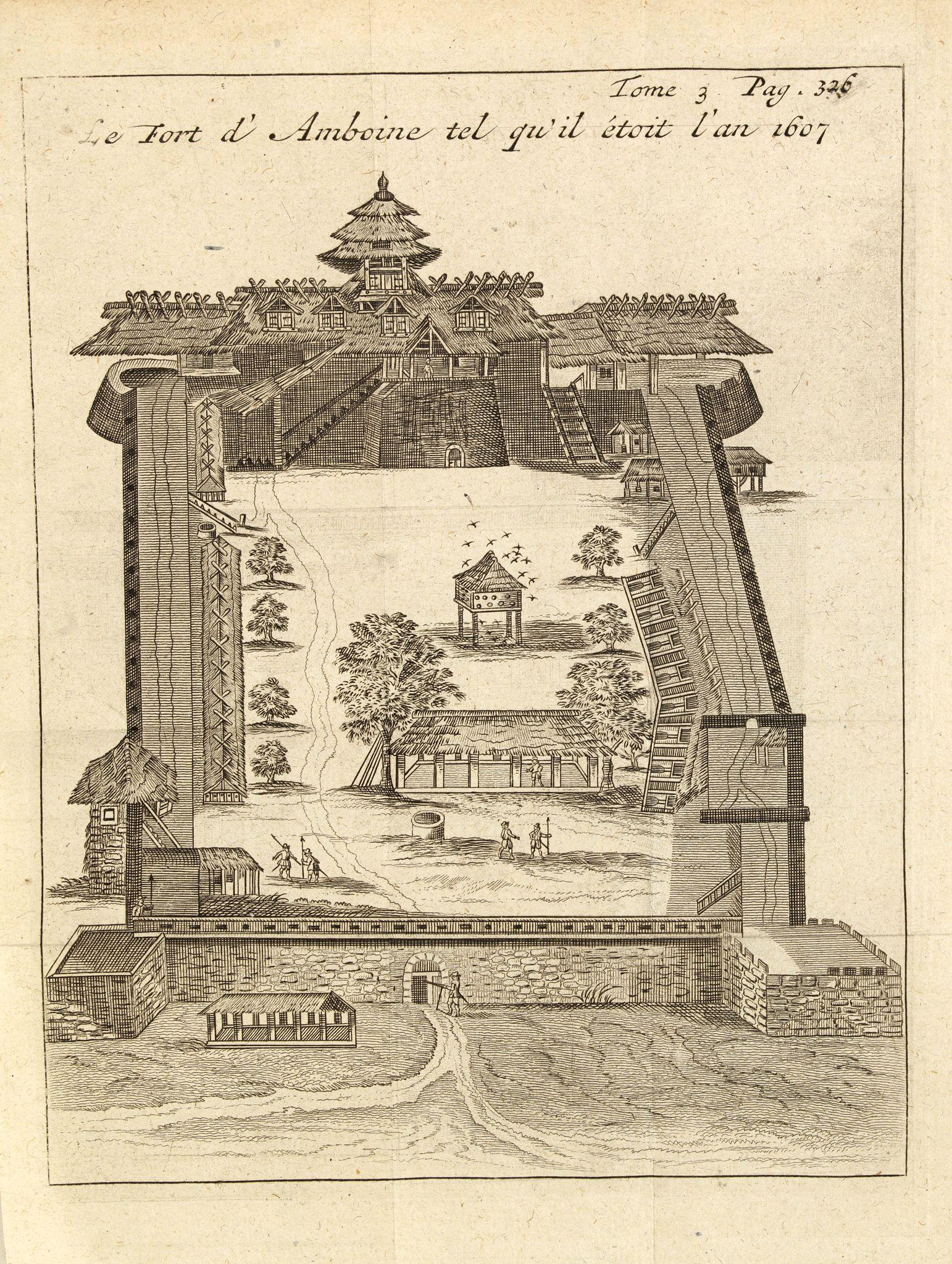 DE RENNEVILLE, R.A.C. -  Le fort d'Amboine tel qu'il était en l'an 1607.