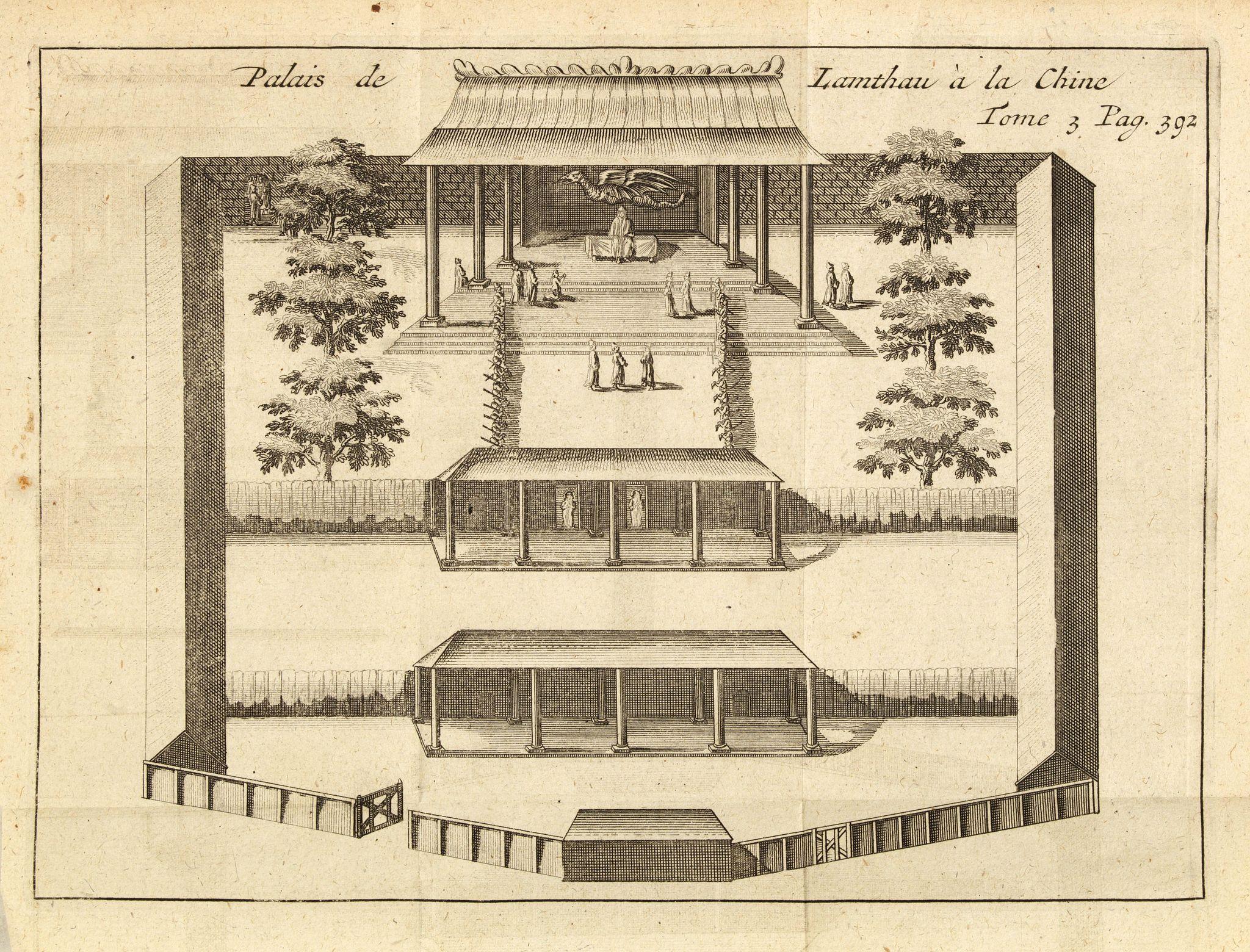 DE RENNEVILLE, R.A.C. -  Palais de Lamthau à la Chine.