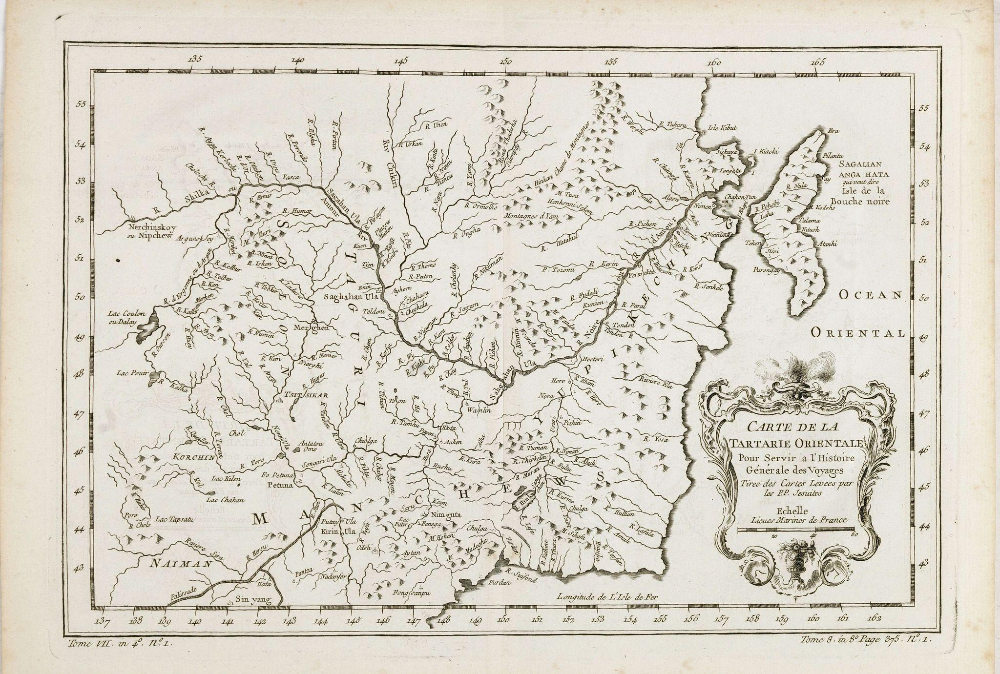 BELLIN, J.N. -  Carte de la Tartarie Orientale pour Servir a l'Histoire Generale des Voyages, Tiree des Cartes Levees par les P.P. Jesuites…