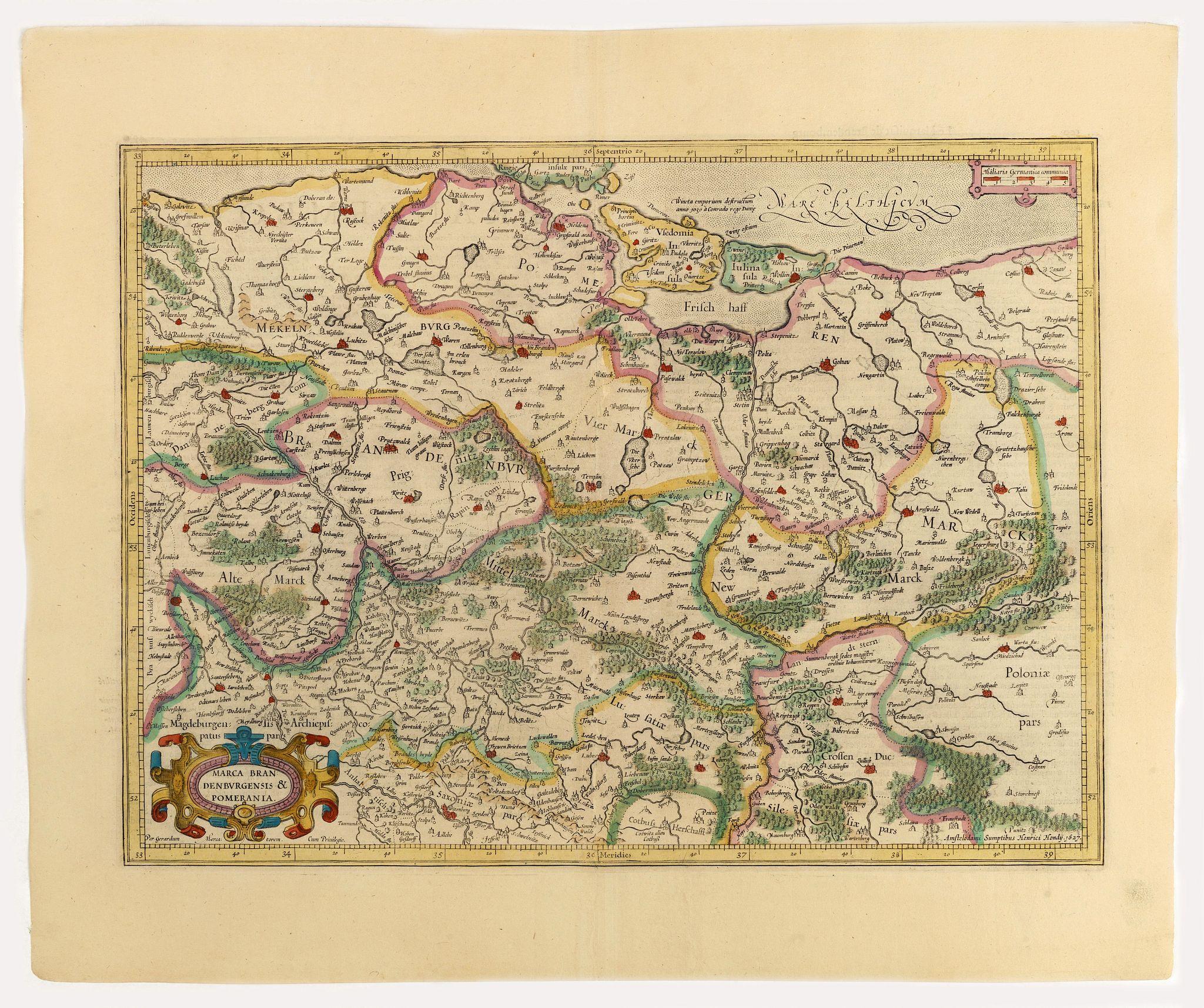 MERCATOR, G. / HONDIUS, J. -  Marca Brandeburgensis & Pomerania.